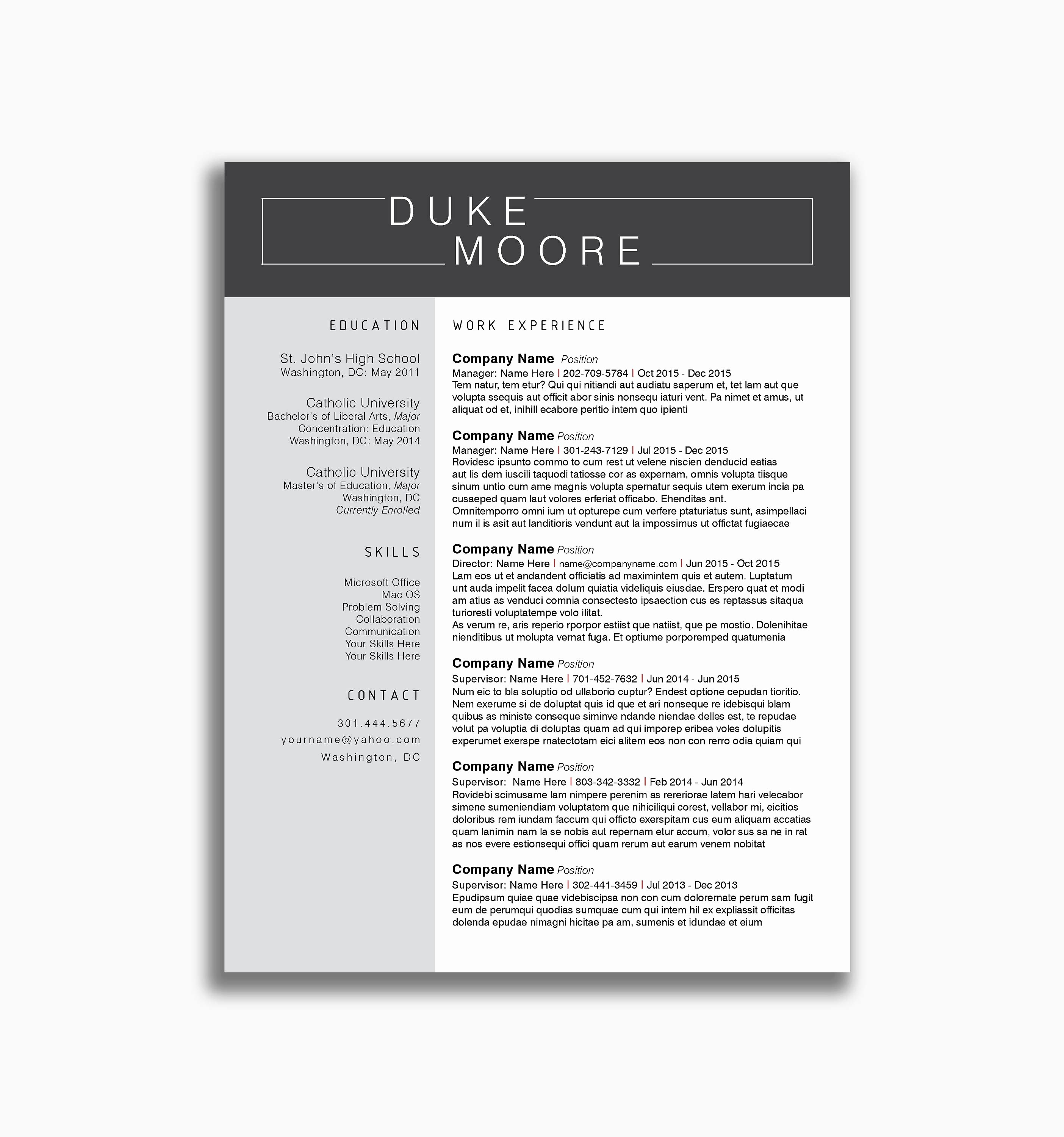 Doctor Resume Template - Physician Resume Sample