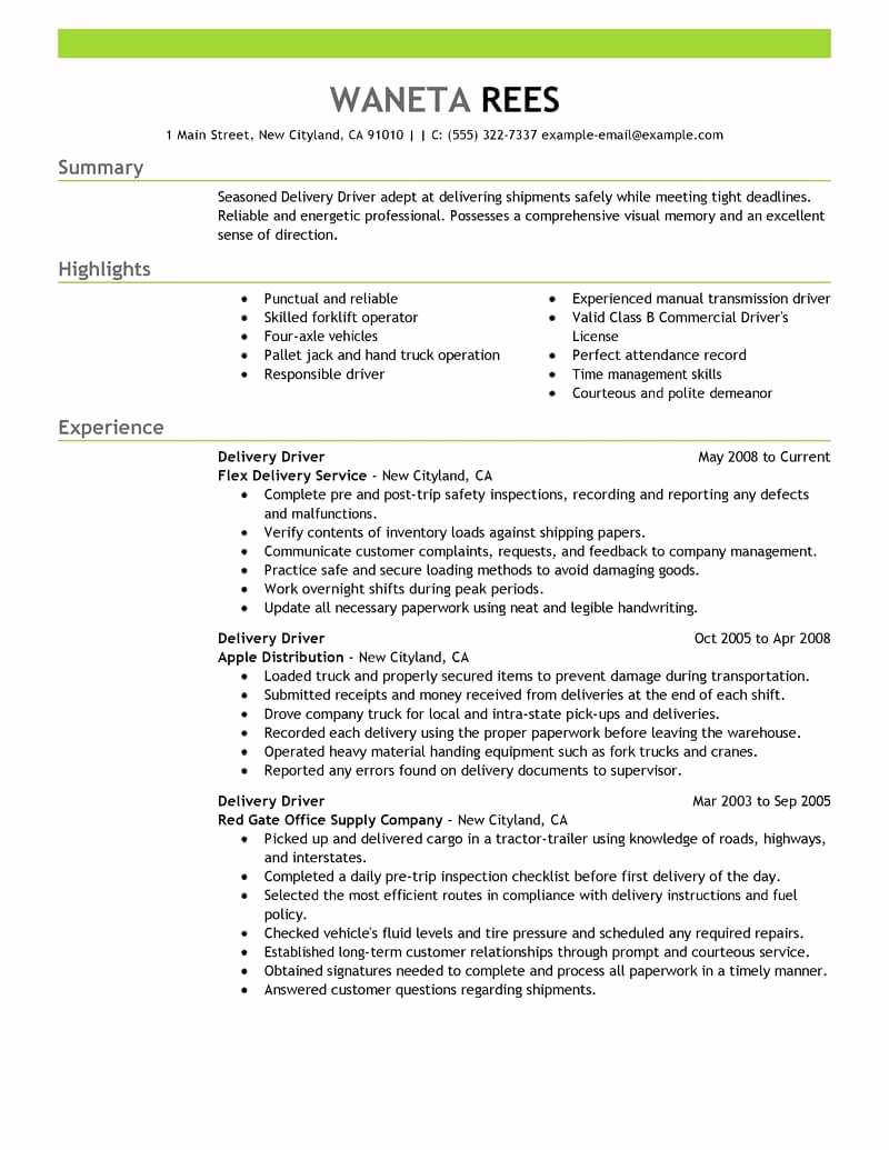 Driver Duties Resume - 30 Uber Driver Job Description Resume