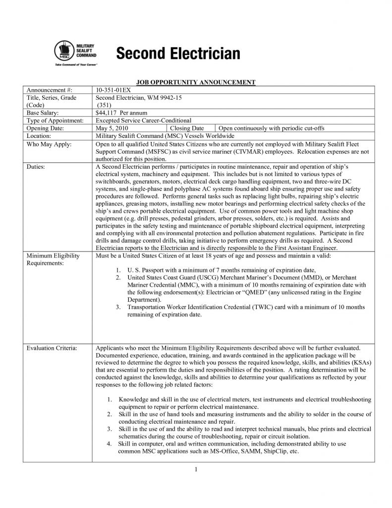 Electrician Apprenticeship Resume Example - Best Electrician Apprentice Resume Examples Vcuregistry