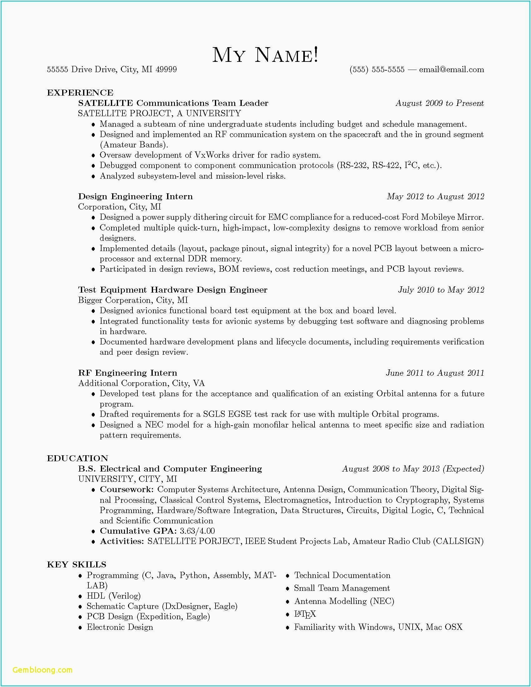 Electrician Resume Examples - Puter Engineering Career Resume Elegant Apprentice Electrician