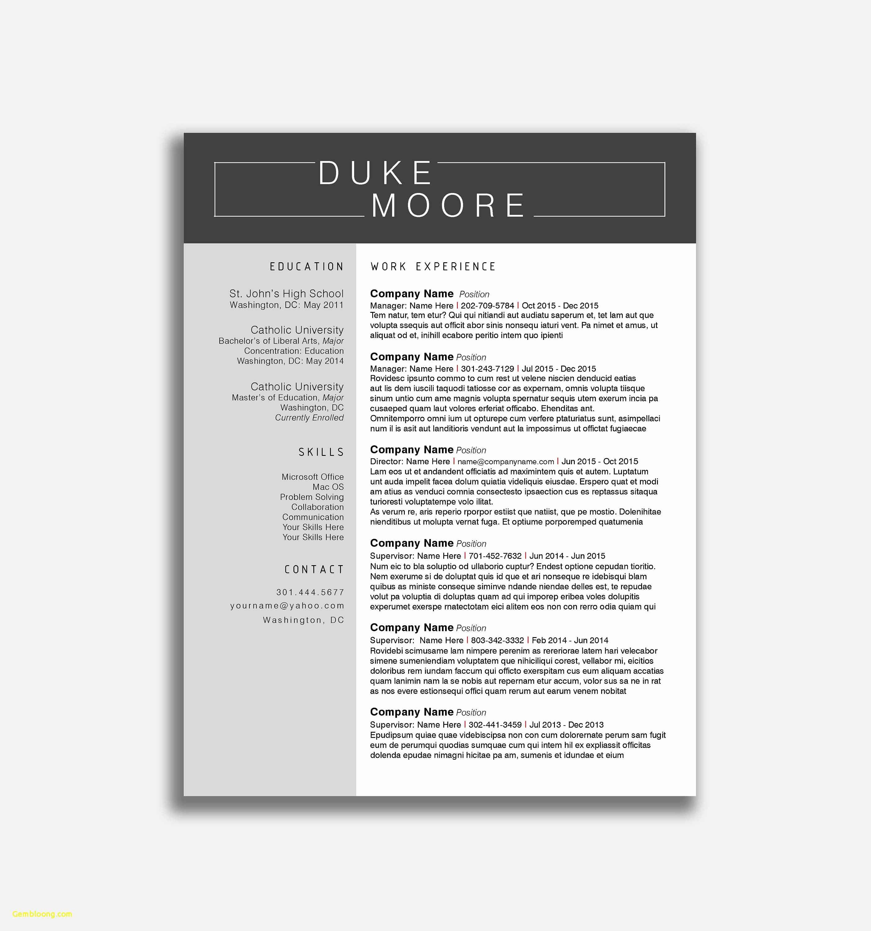 Electrician Resume Template Microsoft Word - 23 Microsoft Word Templates Resume