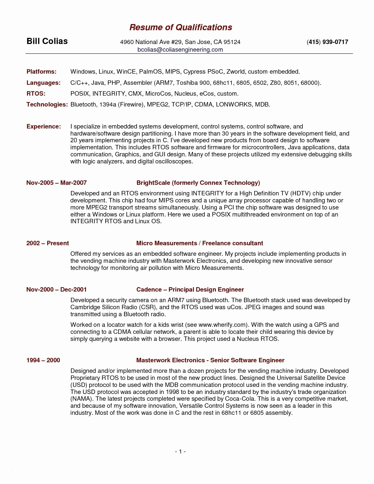Electronics Technician Resume Template - Resume Templates Pdf Free Inspirational Lovely Pr Resume Template