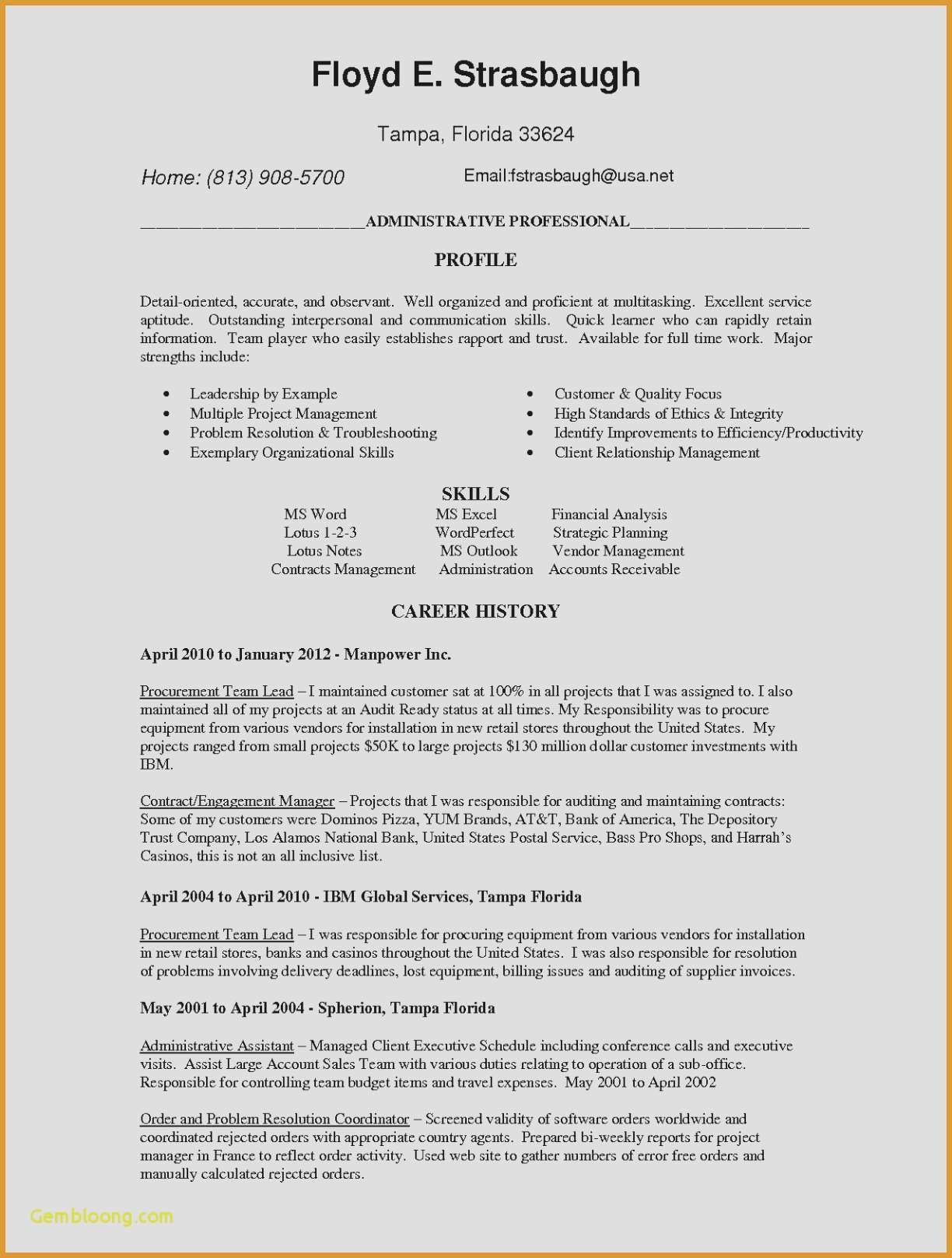 Employment History Resume - 19 New Executive Employment Agreement Land Of Template