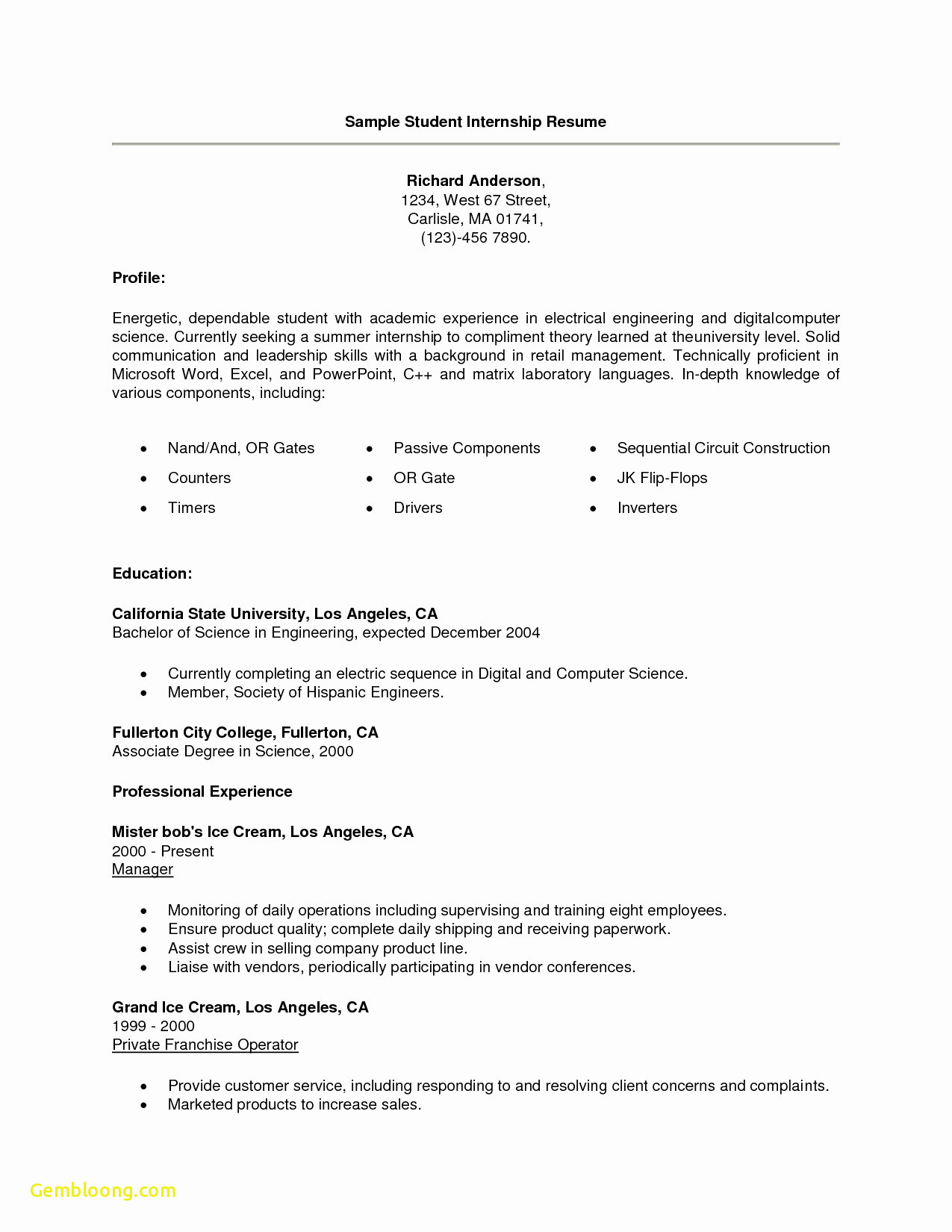 Engineering Skills Resume - Download Best Skills for A Resume