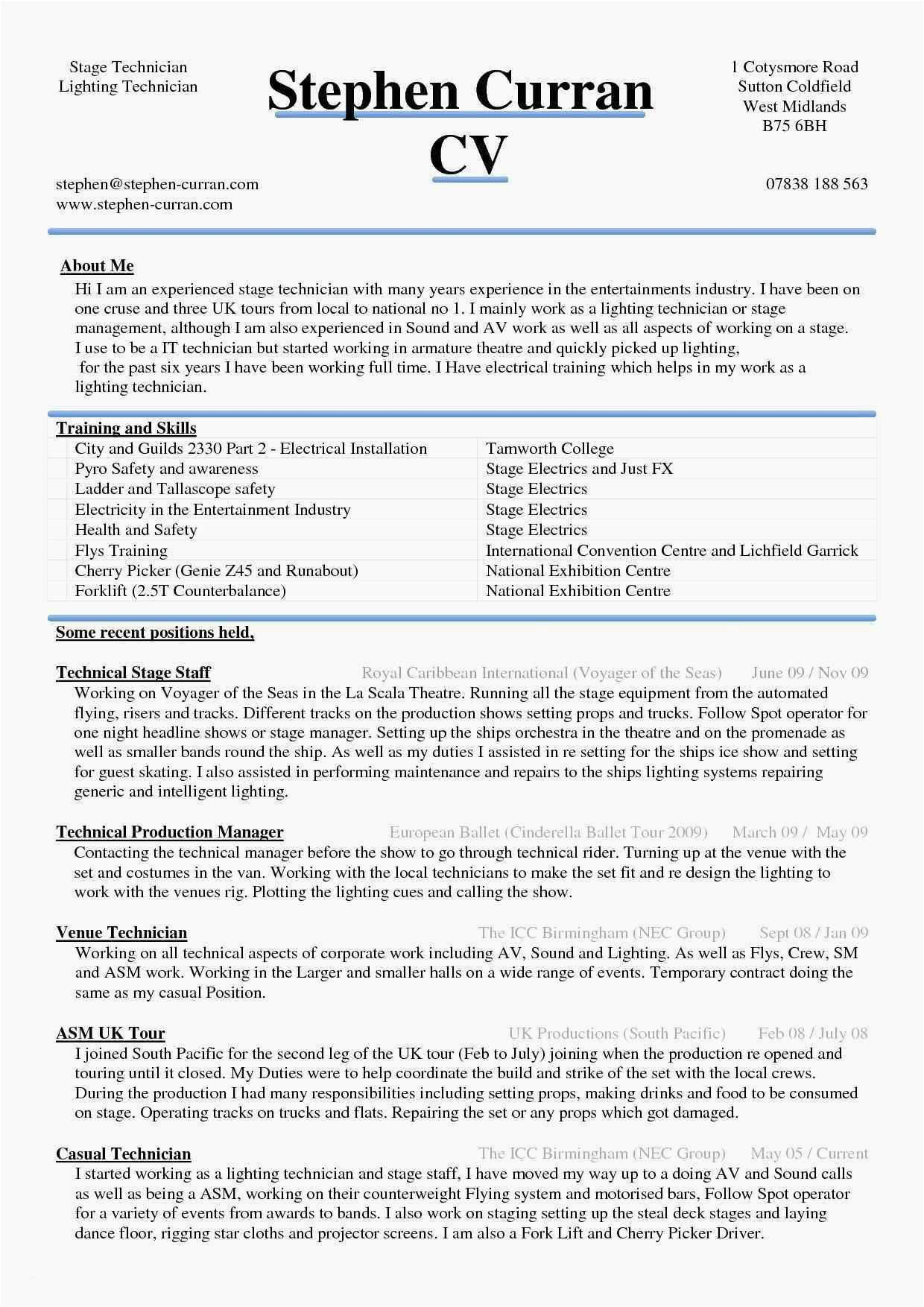 Entertainment Resume Template Free - 20 Best A Resume Template Word
