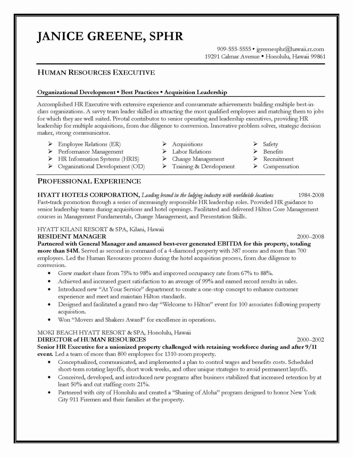 Entry Level Human Resources Resume Examples - Human Resources Resume Examples Resume Objective Statement Entry