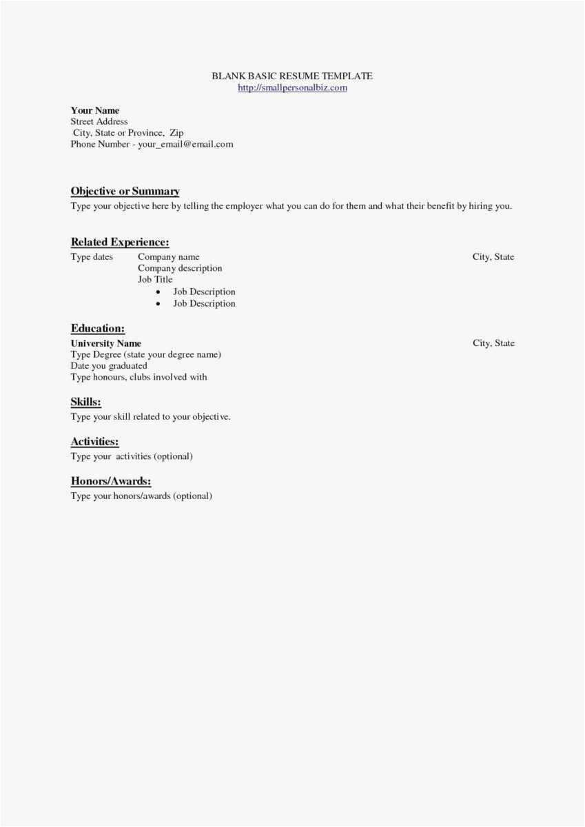 Entry Level Resume Template - 26 New Email Templates Free Gallery