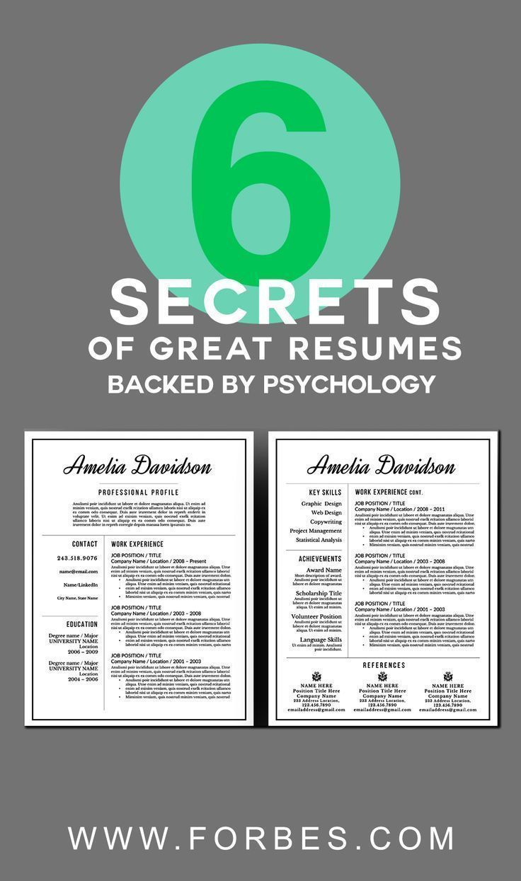 Etsy Resume Template - 6 Secrets Of Great Resumes Backed by Psychology