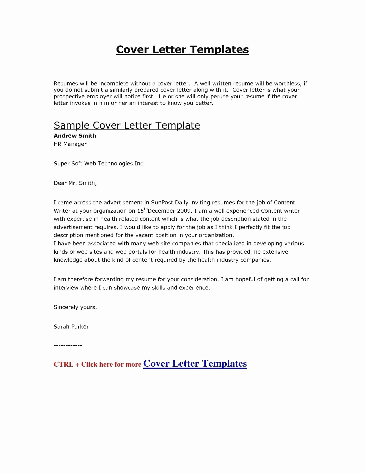 Example Cover Letter for Resume - Job Apply Cover Letter Bank Letter format formal Letter Template