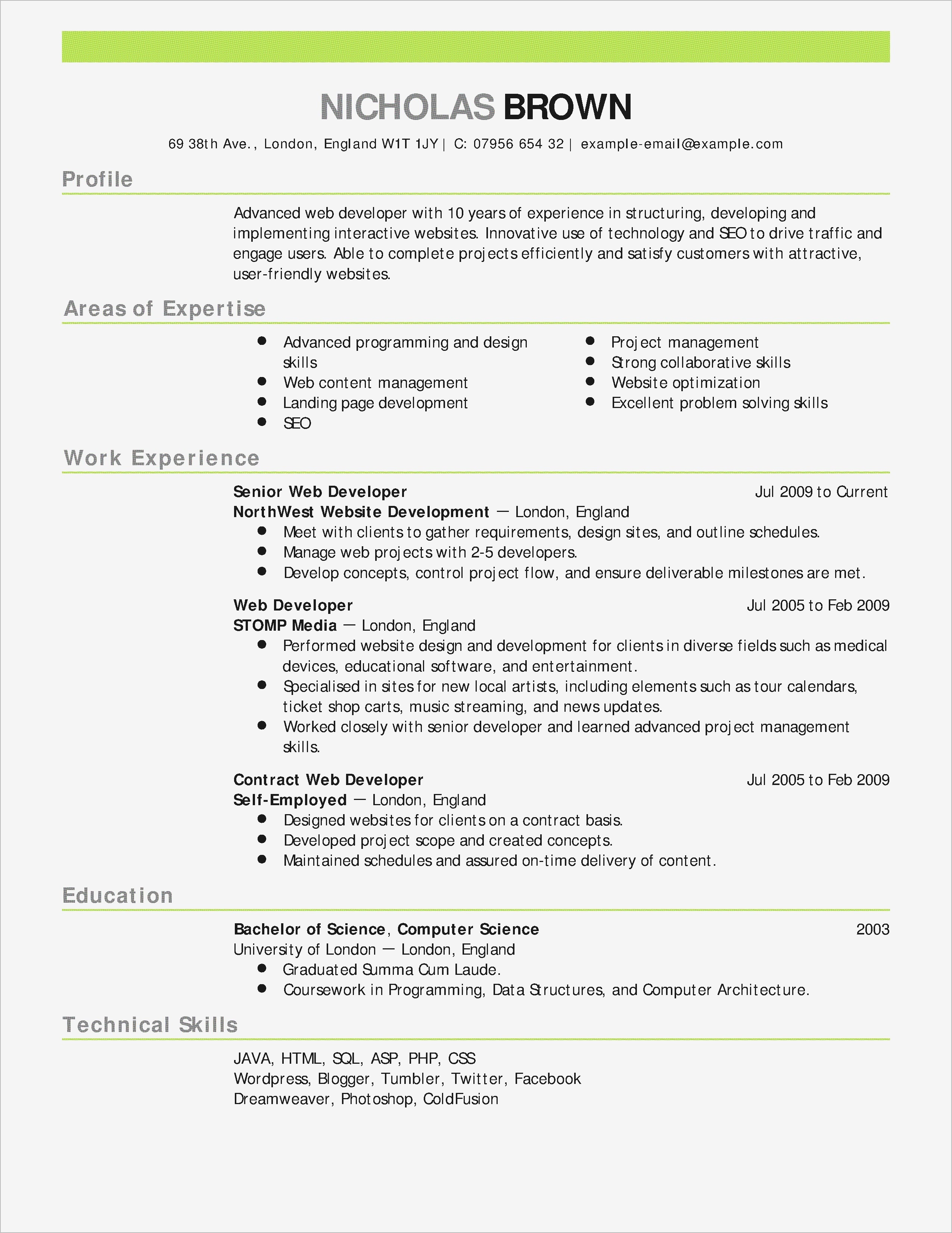 Example Cover Letter for Resume - Maintenance Cover Letter Template Sample