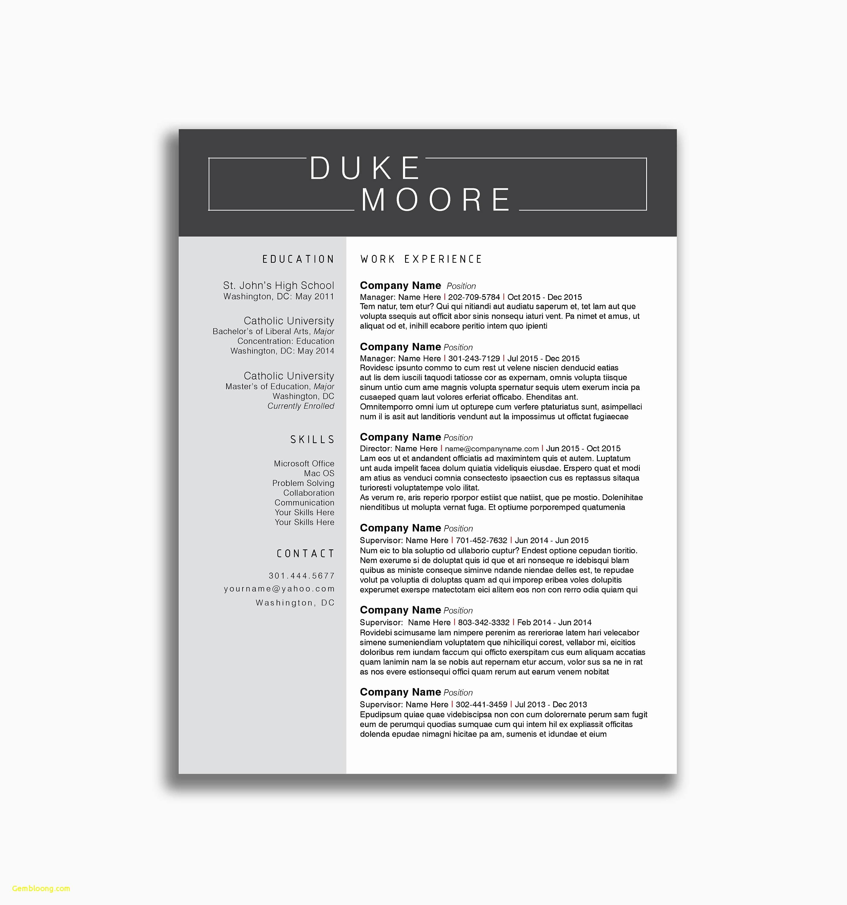 Examples Of Supervisor Resumes - Download Resume Template Beautiful Law Student Resume Template Best