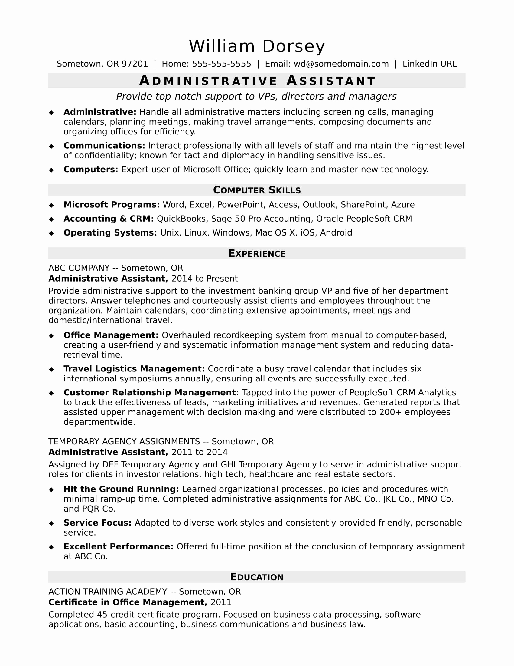 Executive Administrative assistant Resume - Entry Level Administrative assistant Resume Beautiful Free