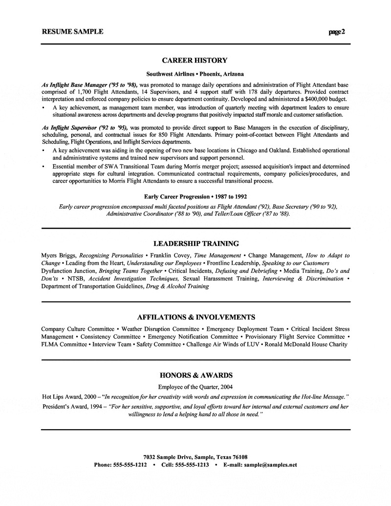 Executive Hybrid Resume Template - Resume Cover Letter