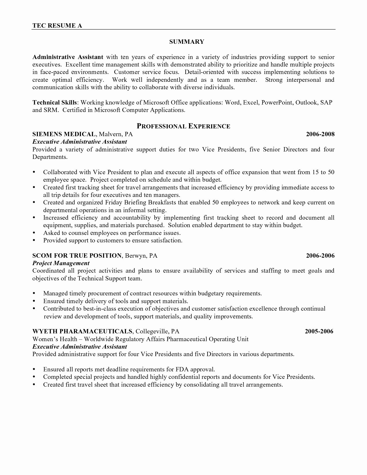 Executive Personal assistant Job Description Resume - Personal assistant Cover Letter Template Gallery
