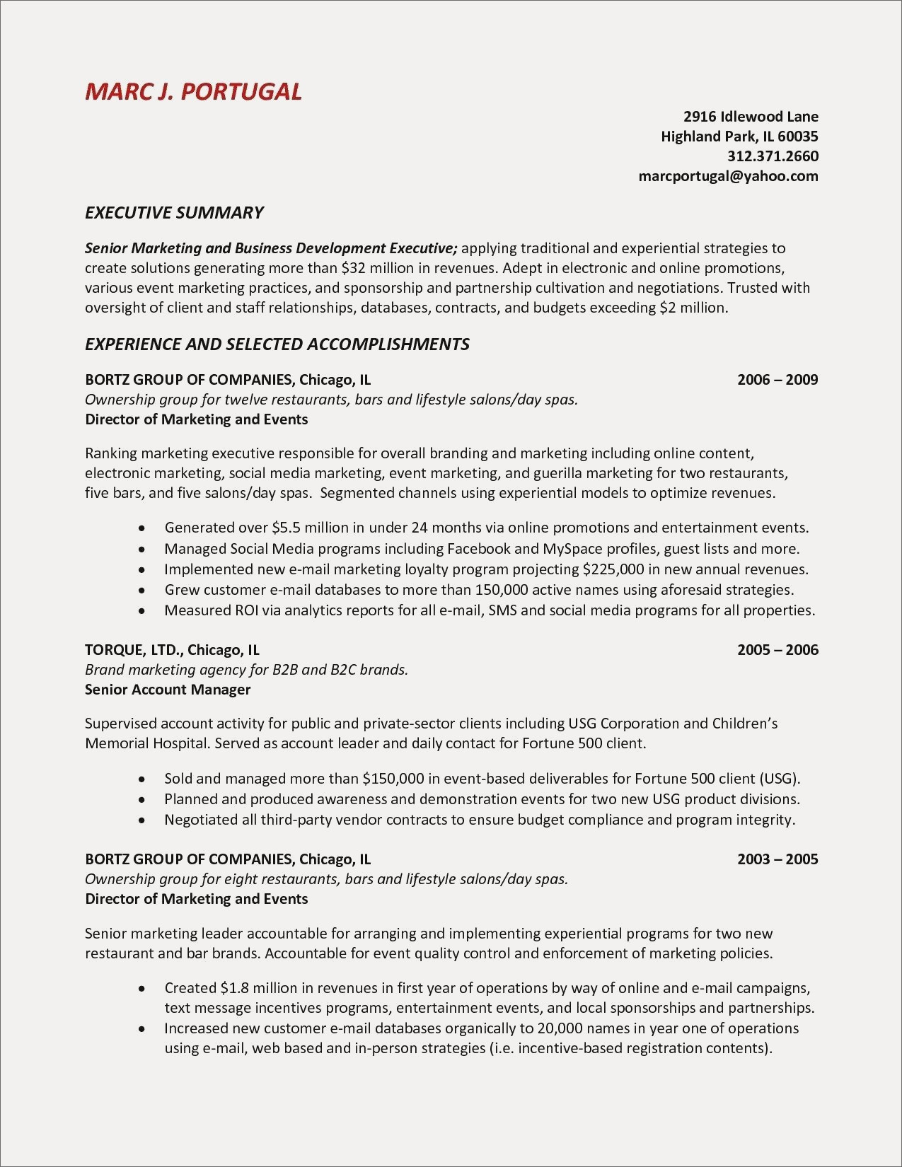 Executive Summary for Resume - Executive Summary Resume New Summary A Resume New Fresh Examples