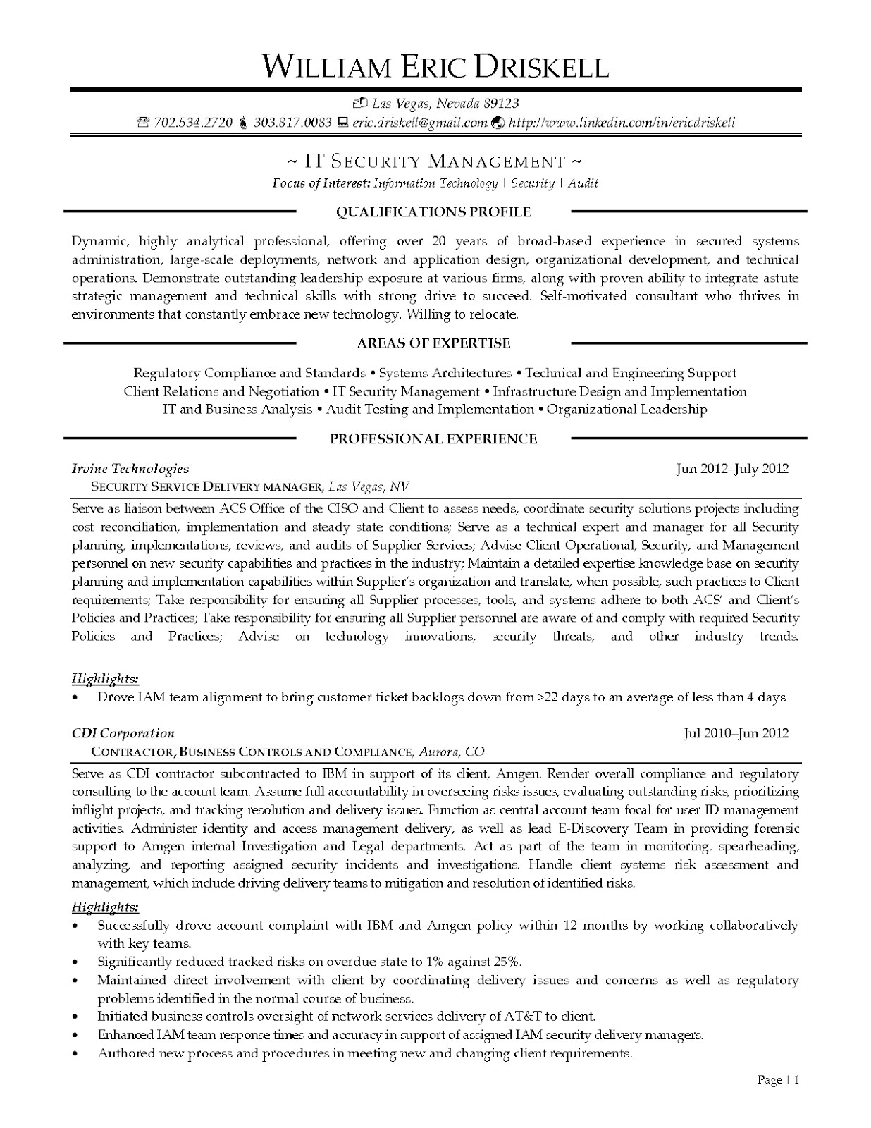 Executive Summary Resume Samples - 46 Best Summary Examples for Resume