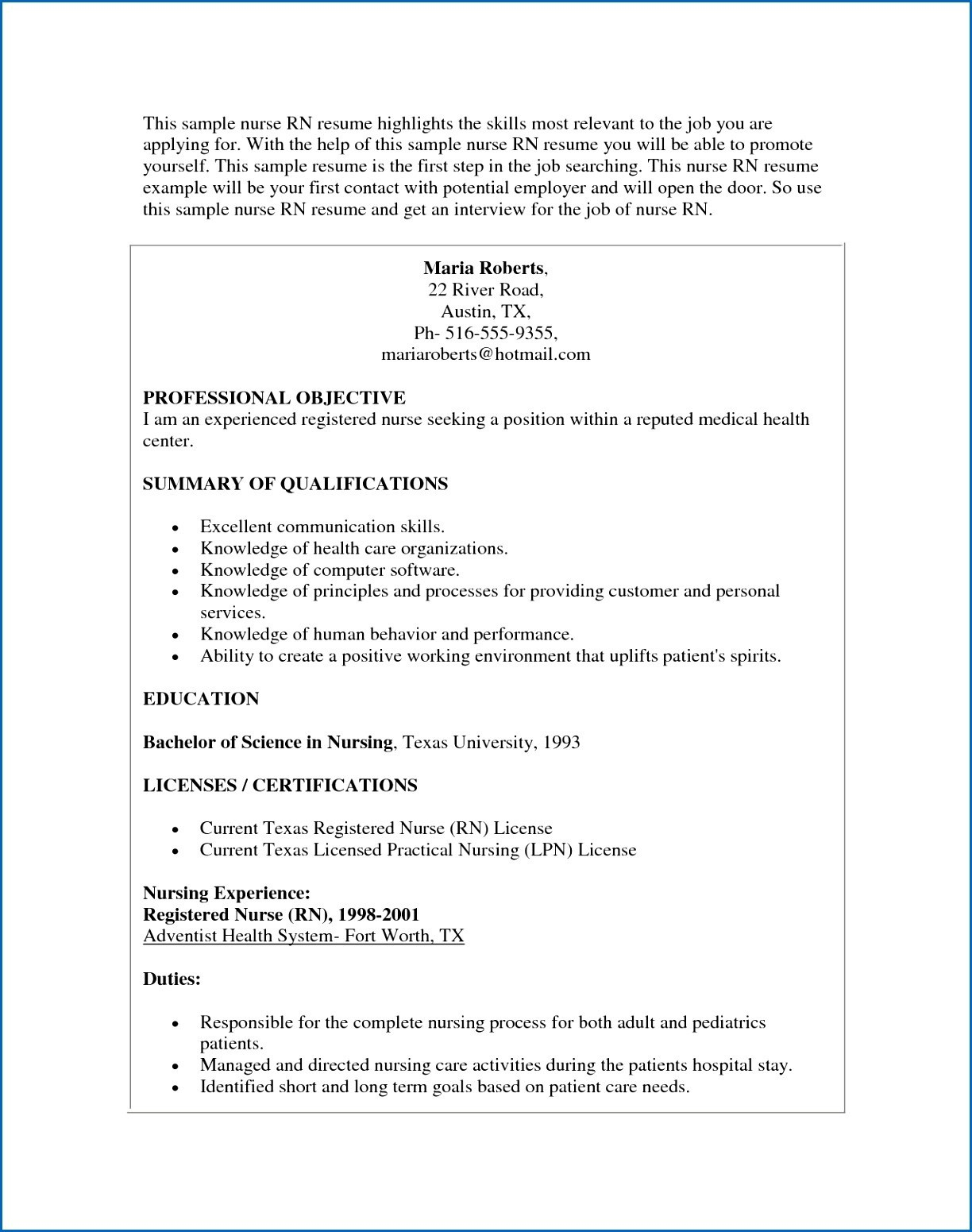 Experienced Nurse Resume Template - Nurse Resume Examples Best Nursing Resume Lovely Rn Bsn Resume