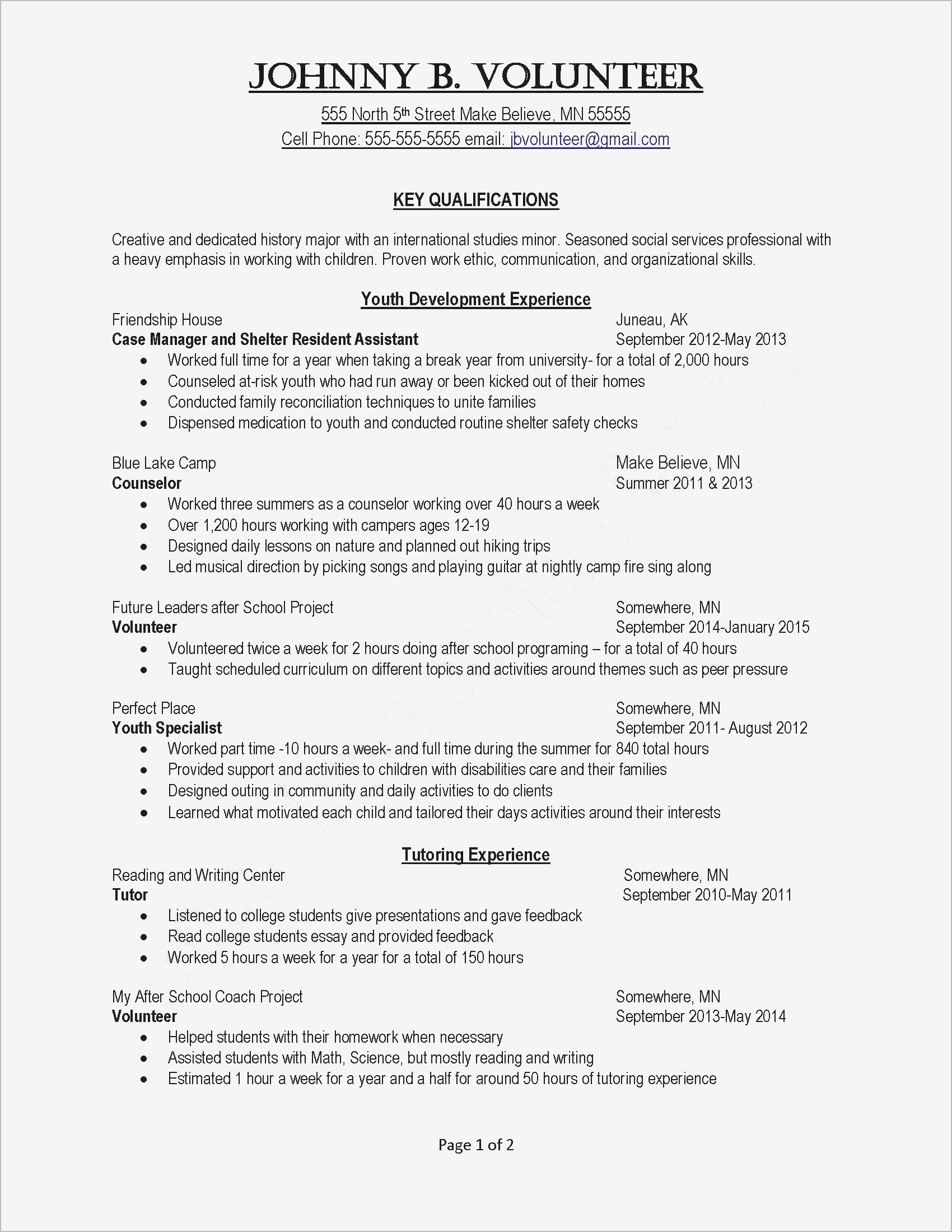 Extra Curricular Activities In Resume - Resume Extracurricular Activities Resume Sample Reference Examples