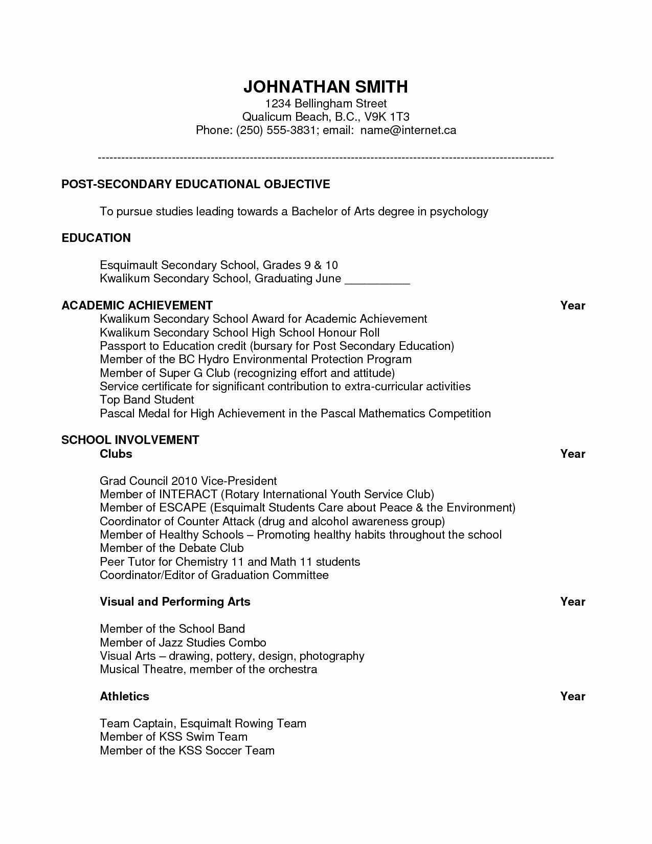 Extra Curricular Activities In Resume - Extra Curricular Activities In Resume Inspirational Co Curricular