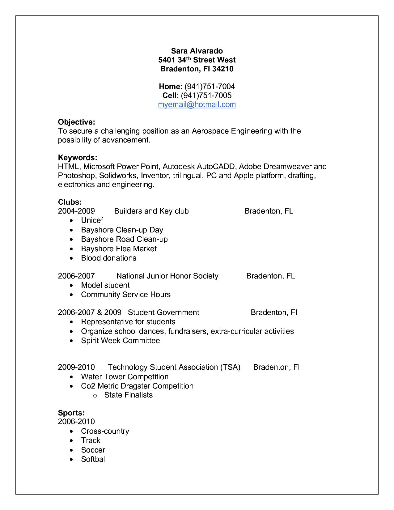Extracurricular Resume Template - Extracurricular Activities Resume Template Best Apple Resume