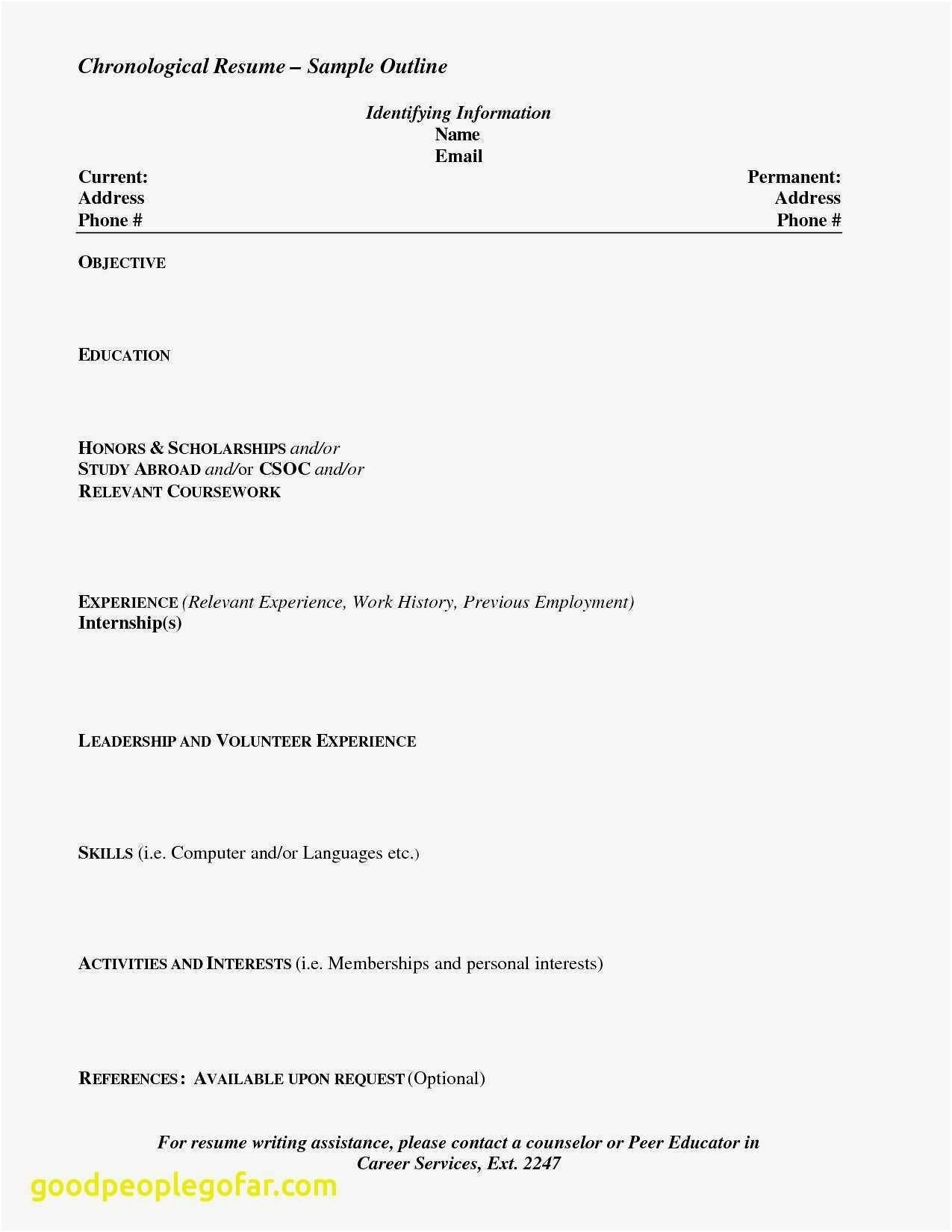 Extracurricular Resume Template - 15 Extracurricular Activities Resume