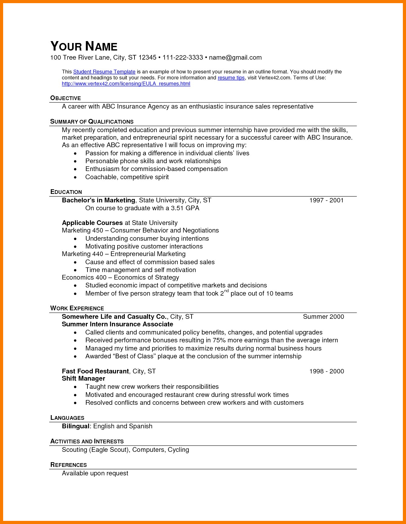 Fast Food Resume Objective - 10 11 Should I Put Fast Food On My Resume