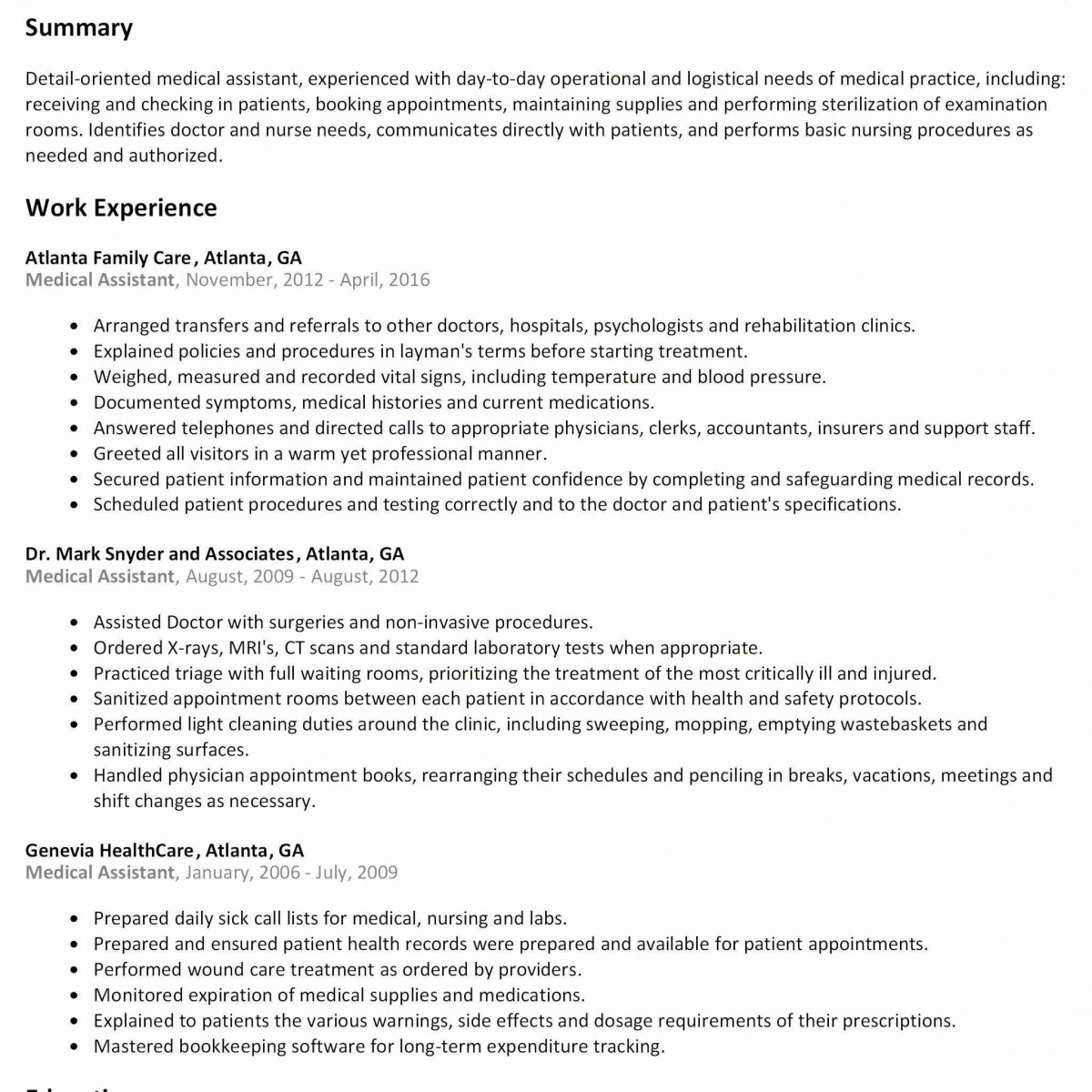 8 fast learner resume collection