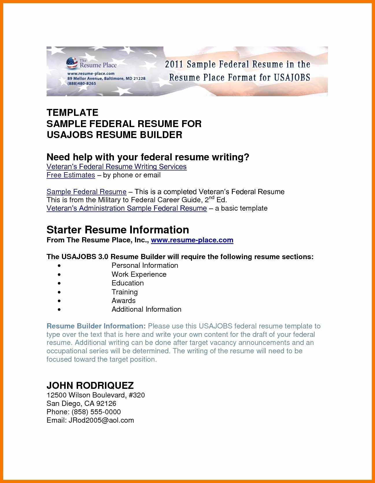 Federal Resume format - Usajobs Resume Builder Lovely Federal Resume Tips Img S I Pinimg