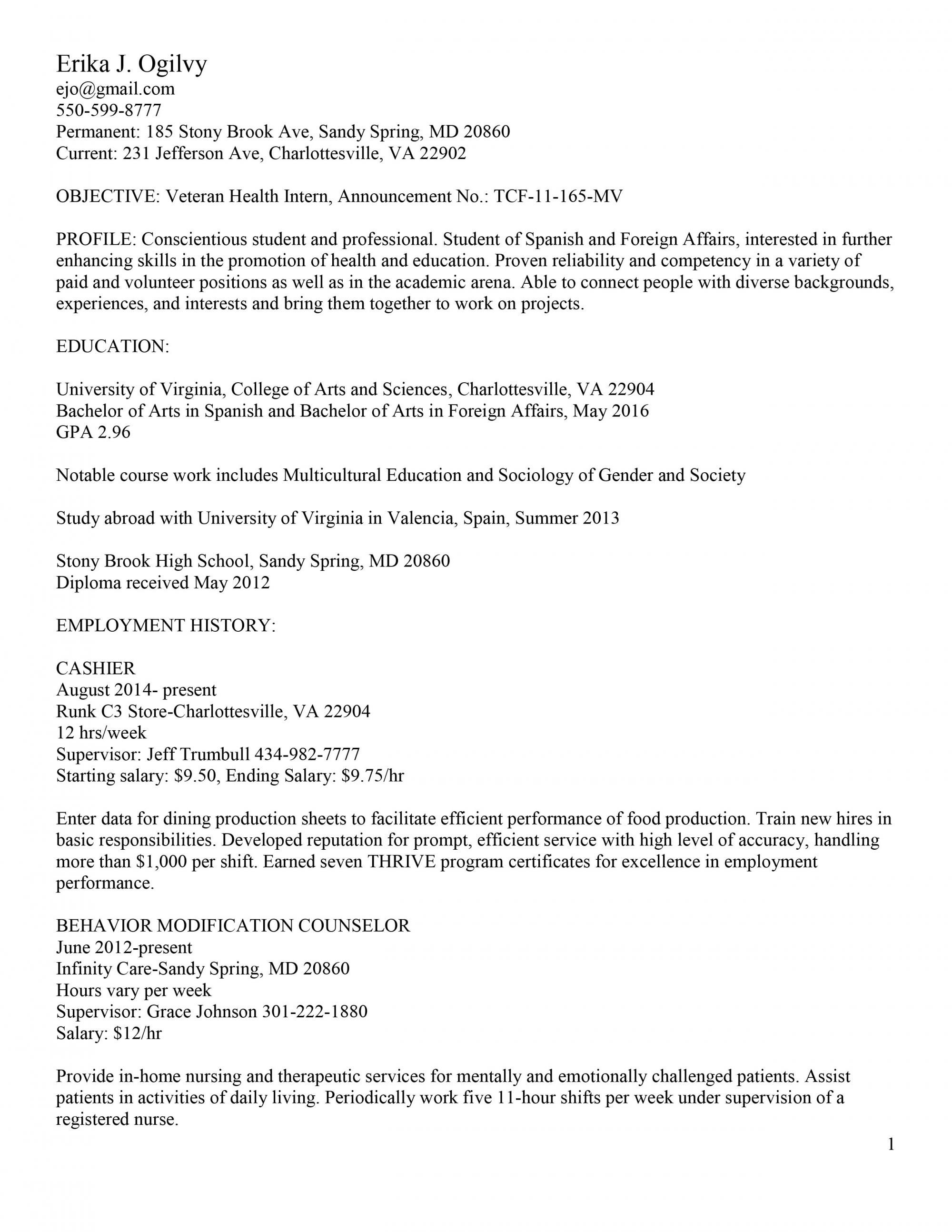 8 federal resume template 2014 examples