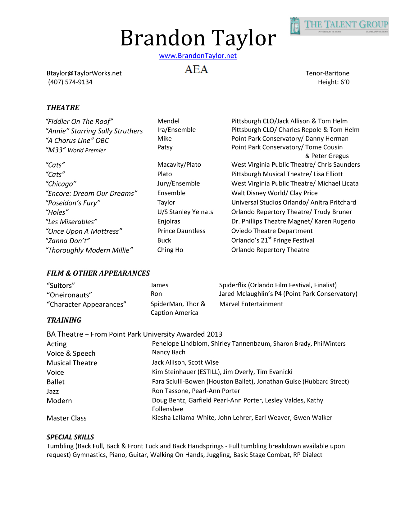Film Crew Resume Template - Resume for Industry Film theatre Resume Resume Templates
