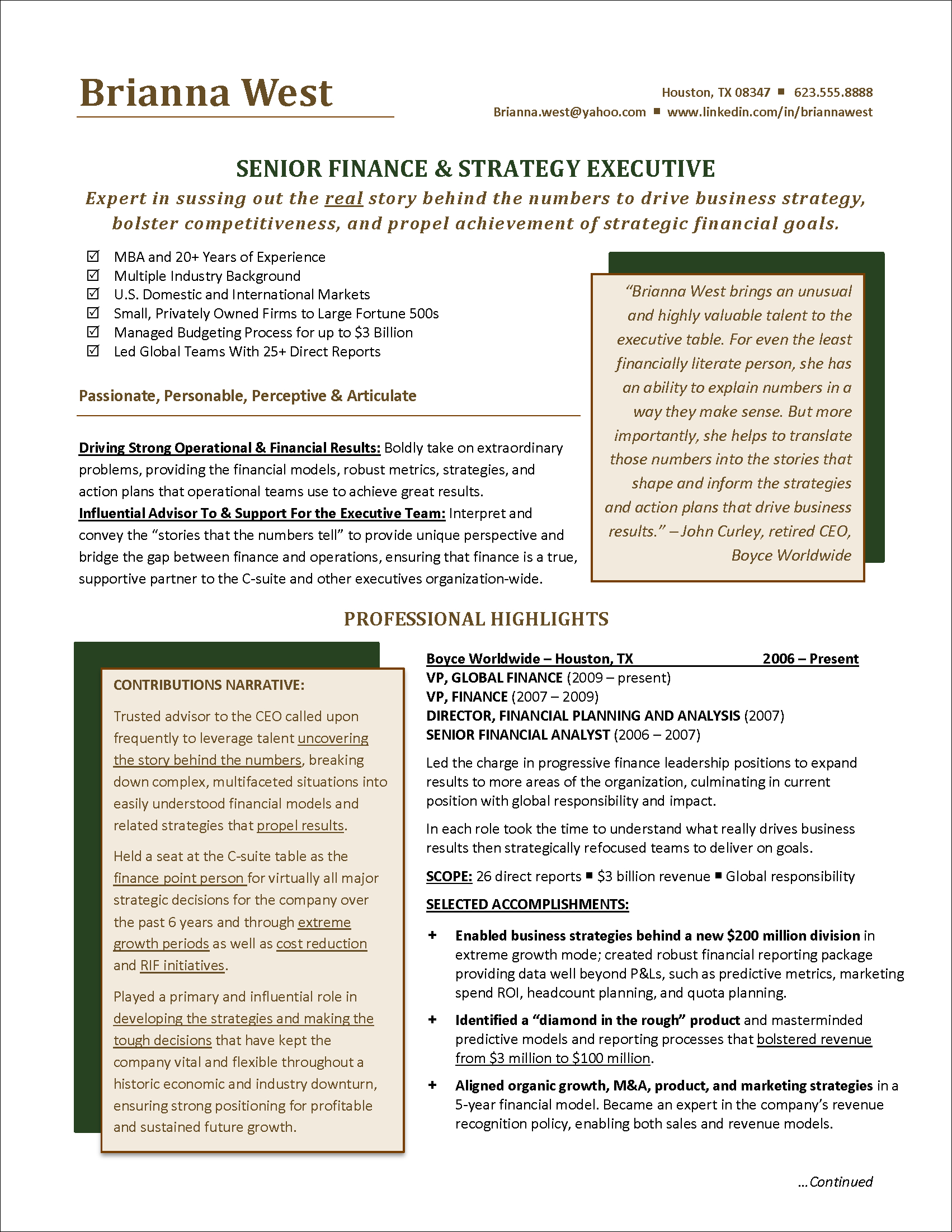 Finance Manager Resume Sample - Finance Manager Resume Example Resume Examples