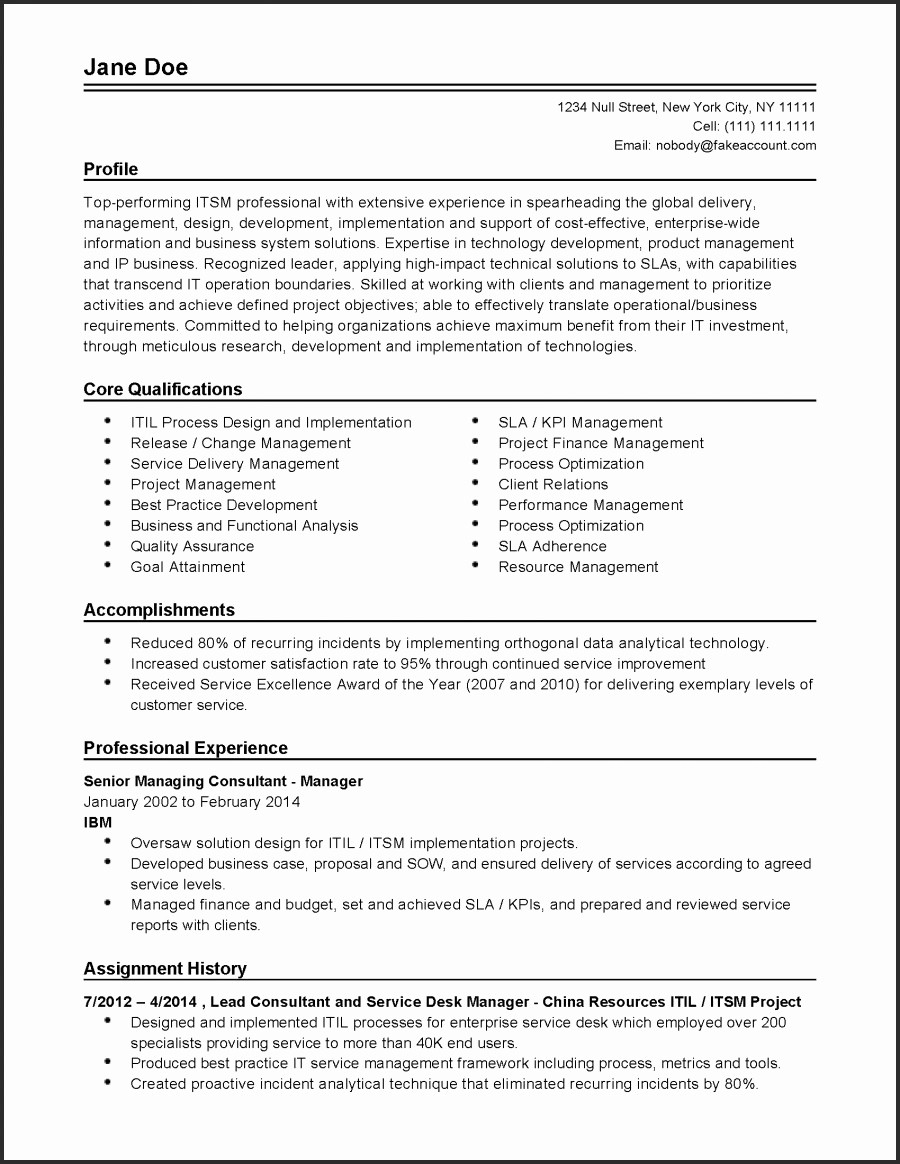 Financial Advisor Resume Template - Financial Resume Template