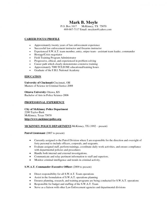 Fire Department Promotional Resume Template - Resume for Promotion Sample Law Enforcement Professional Resume
