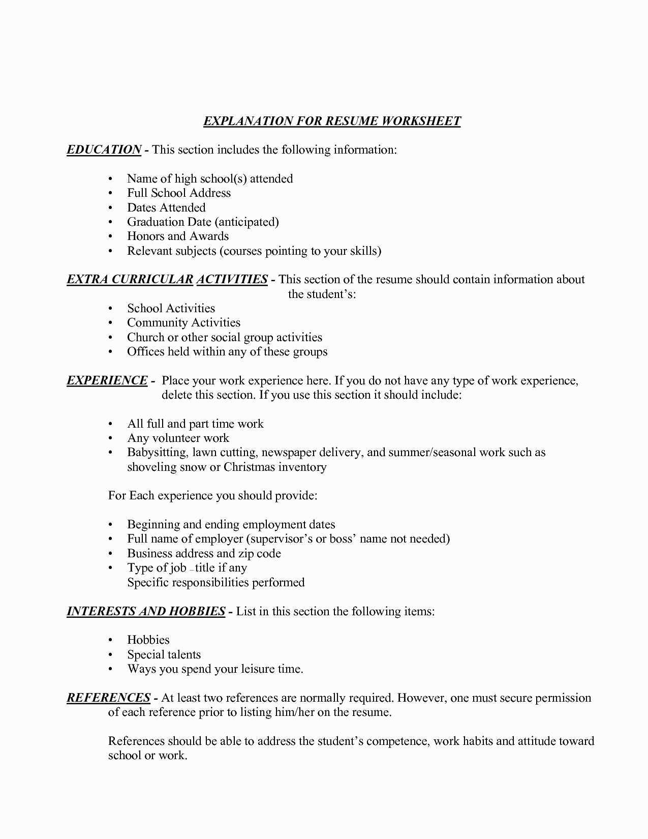 Focus Resume - Beaufiful Career Focus Resume Career Focus Resume Awesome