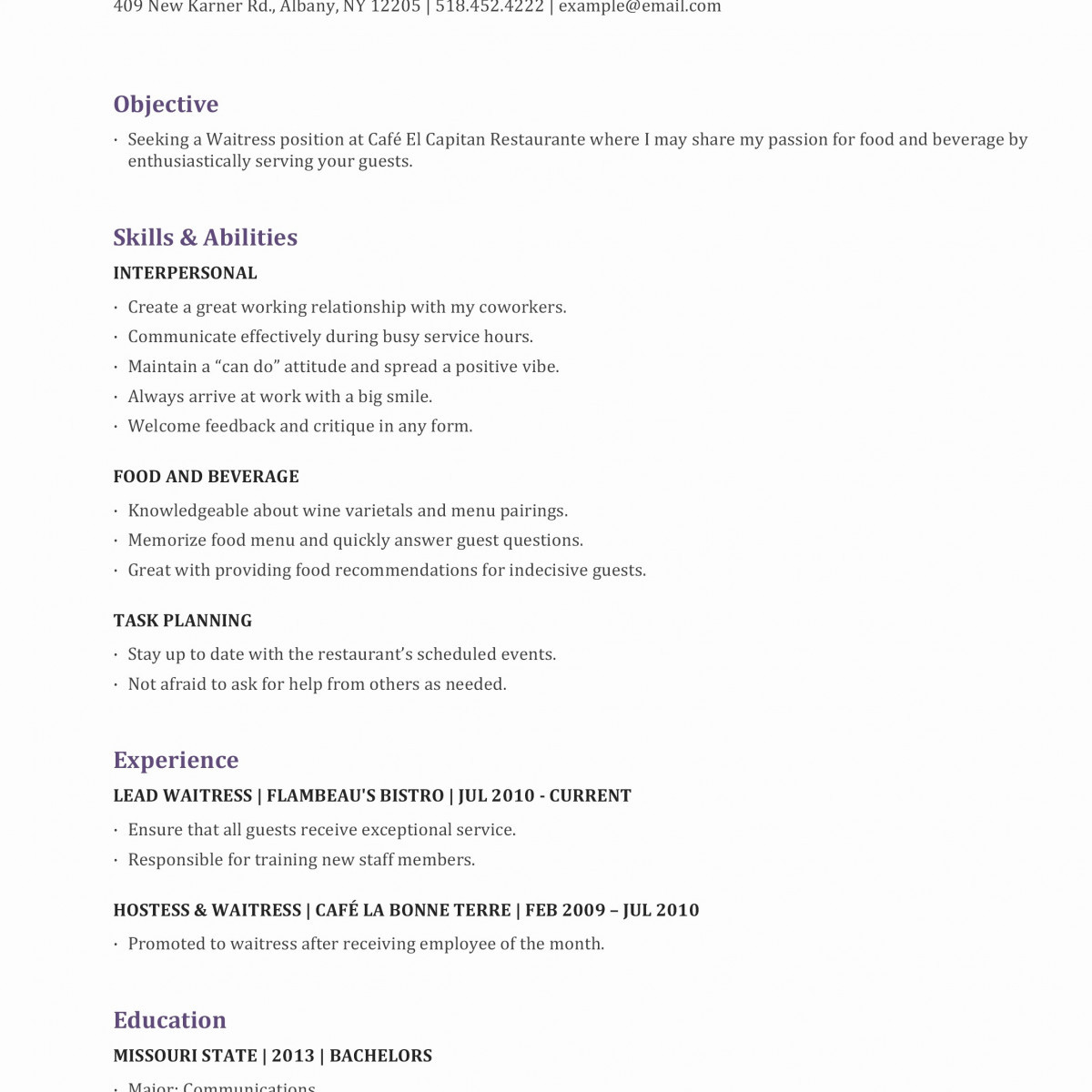 Food and Beverage Resume Template - Resume Tips Examples Magnificent Resumes Skills Examples Resume