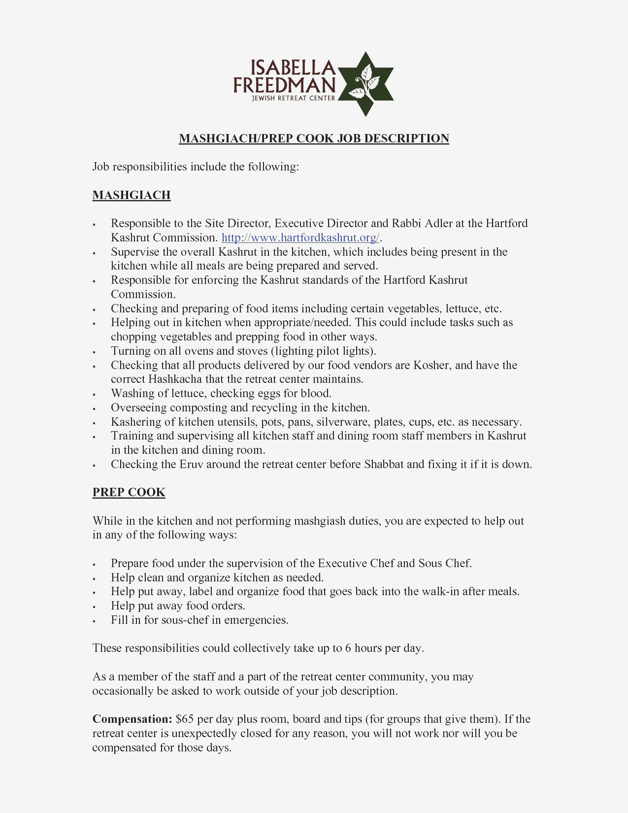 Food Server Job Description Resume - Sample Food Server Resume