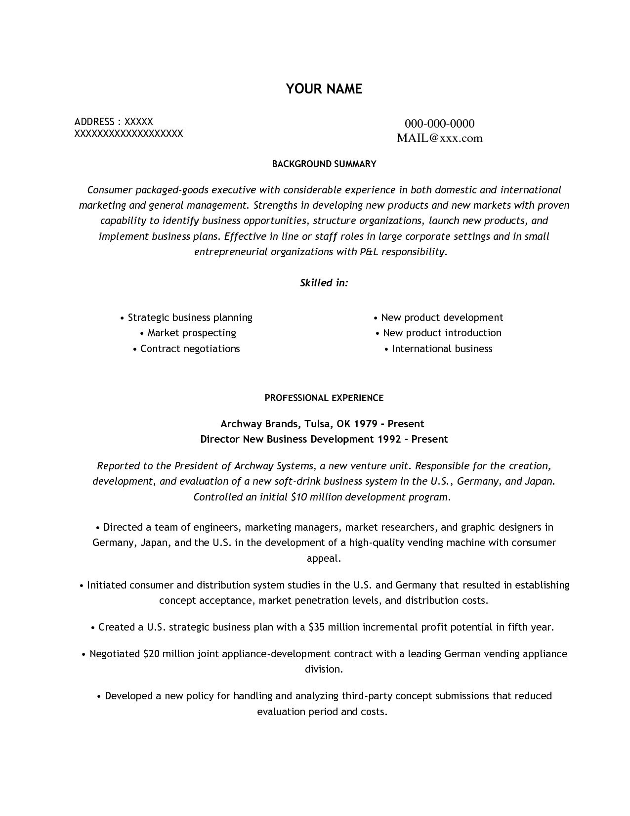 Food Service Manager Resume - Customer Service Director Fresh Customer Service Manager Resume