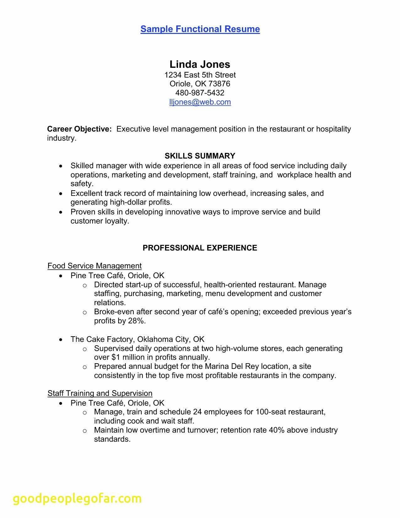 Food Service Resume Template - Vet Tech Resume Fresh Tech Resume Templates Inspirational Obama
