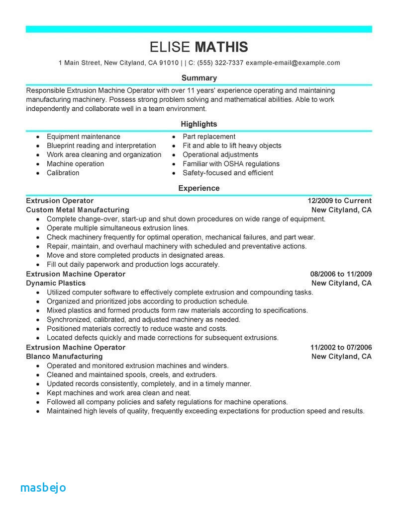 Forklift Driver Resume Template Example - forklift Resume Examples 26 forklift Operator Resume