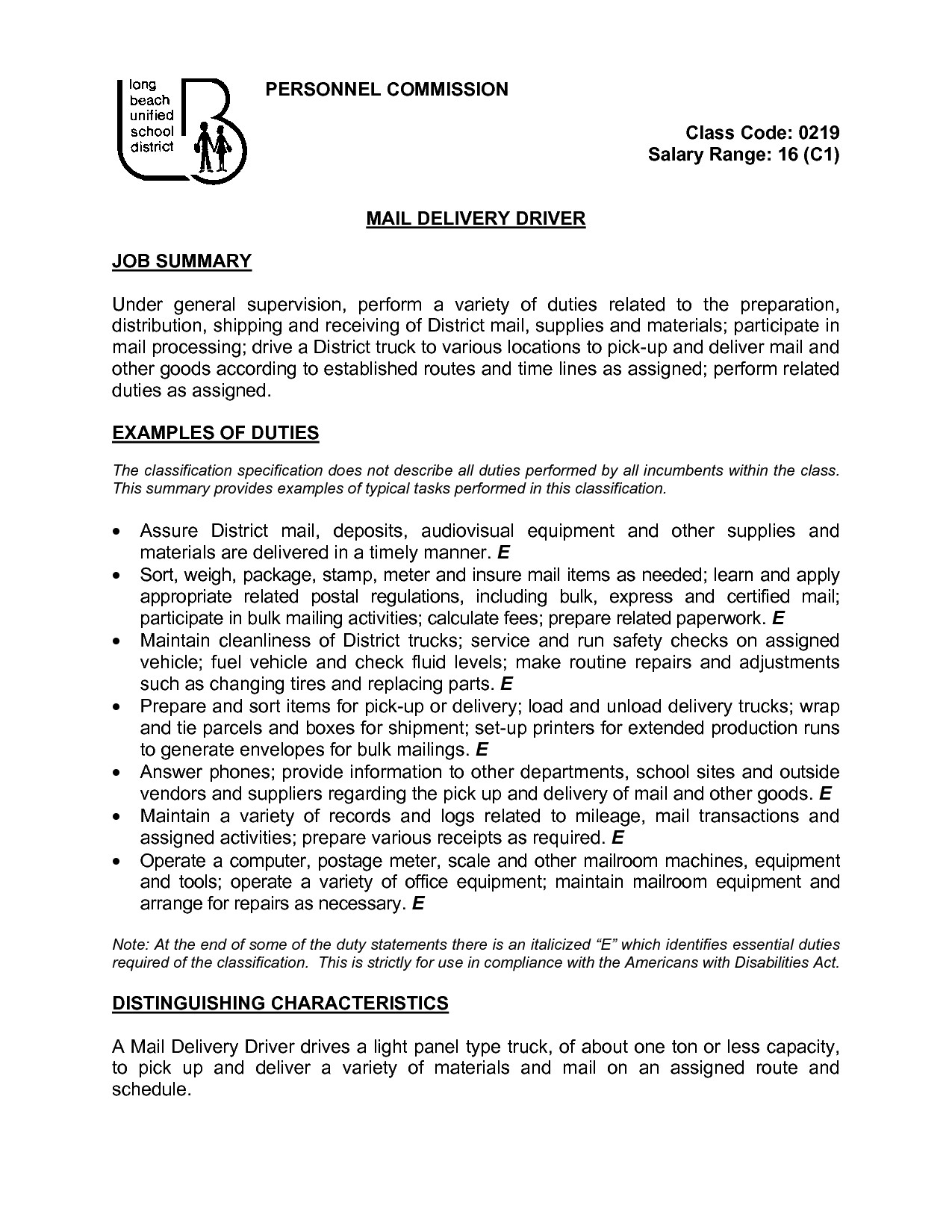 Forklift Operator Job Description Sample - Delivery Driver Job Description for Resume List Truck Driver