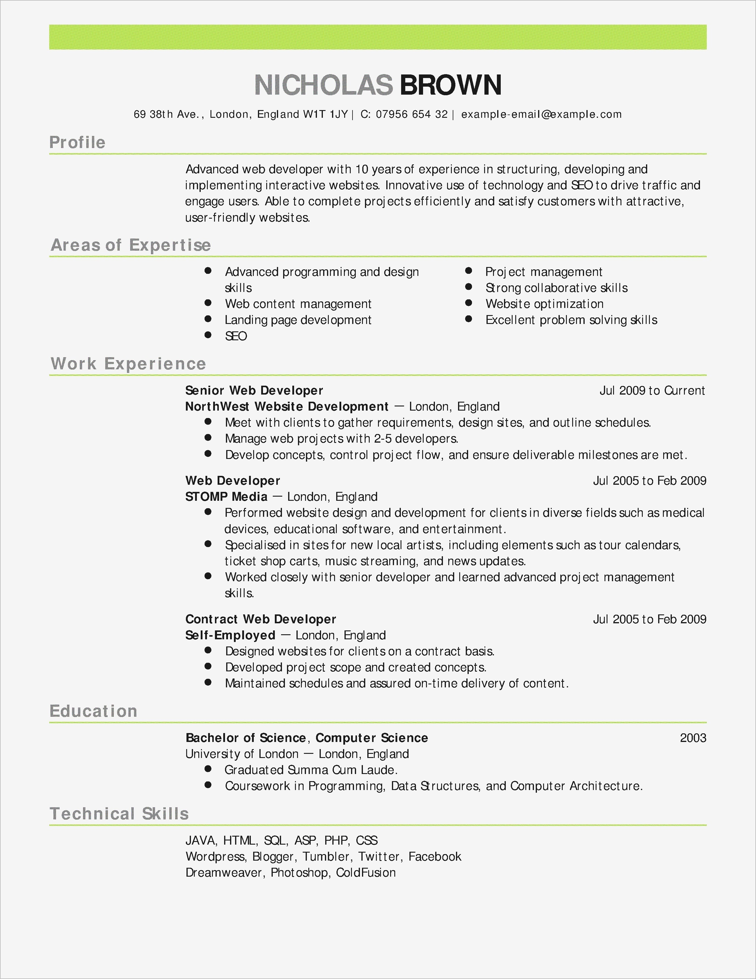 Fox School Of Business Resume Template - 15 Fun Resume Templates