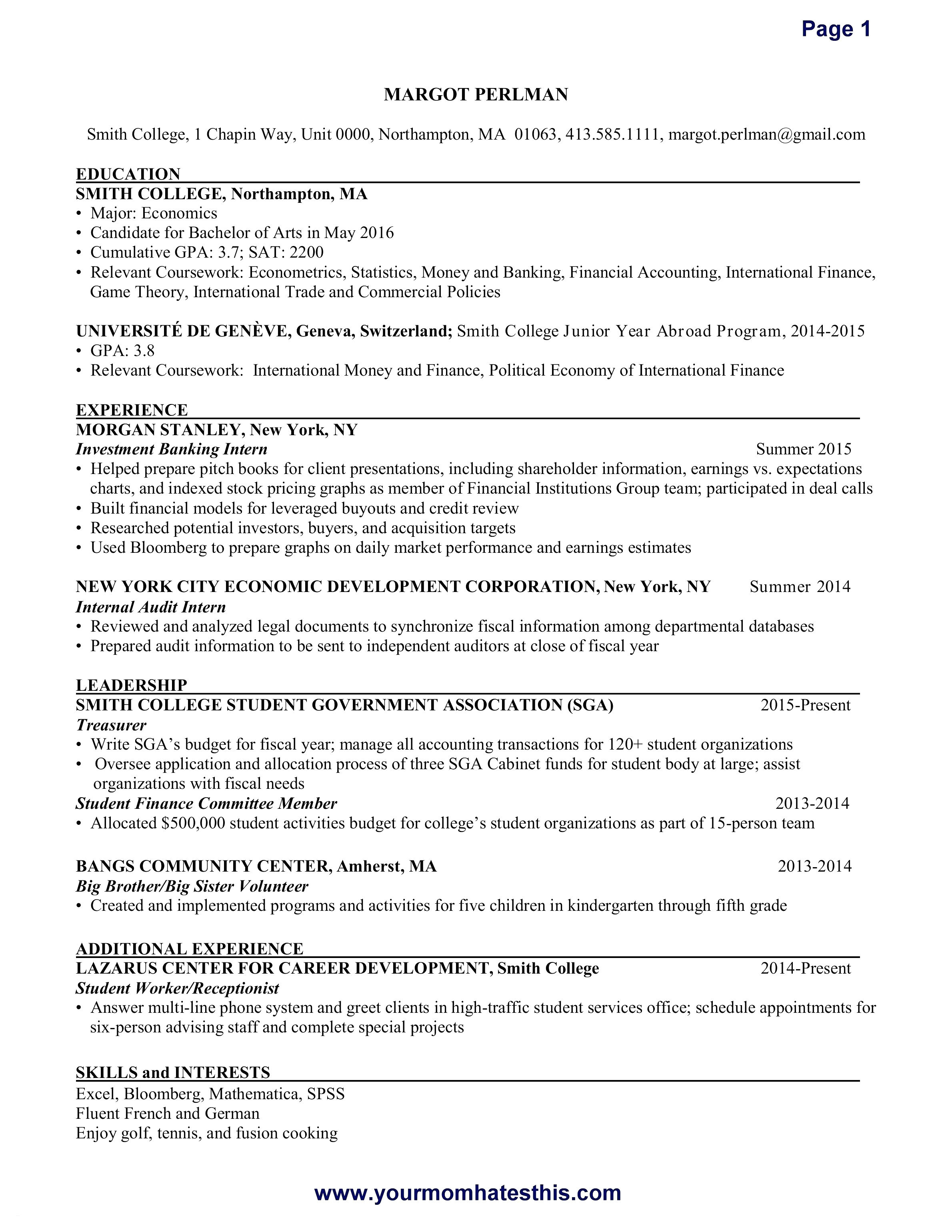 Free Internship Resume Template - Awesome Security Ficer Resume Sample