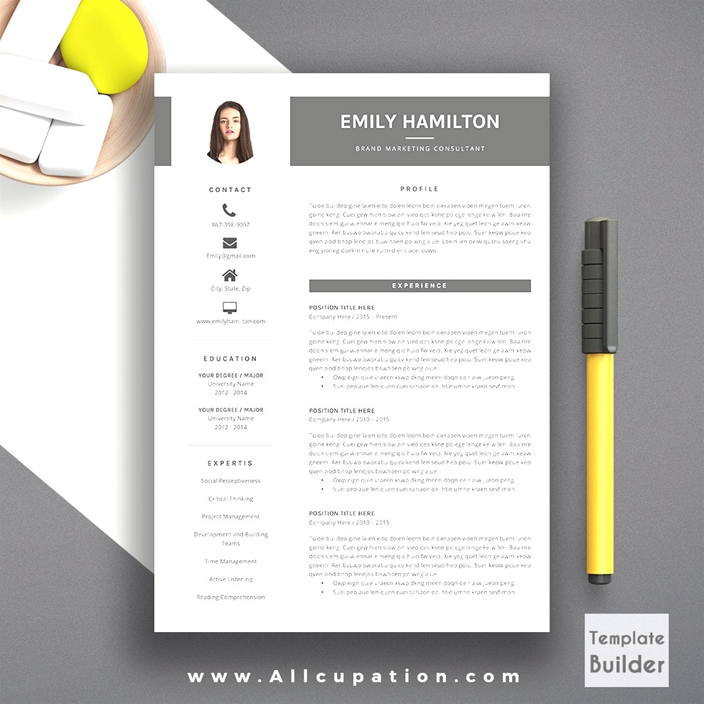 Free Modern Resume Templates for Word - 39 Unbelievable Free Resume Templates Microsoft