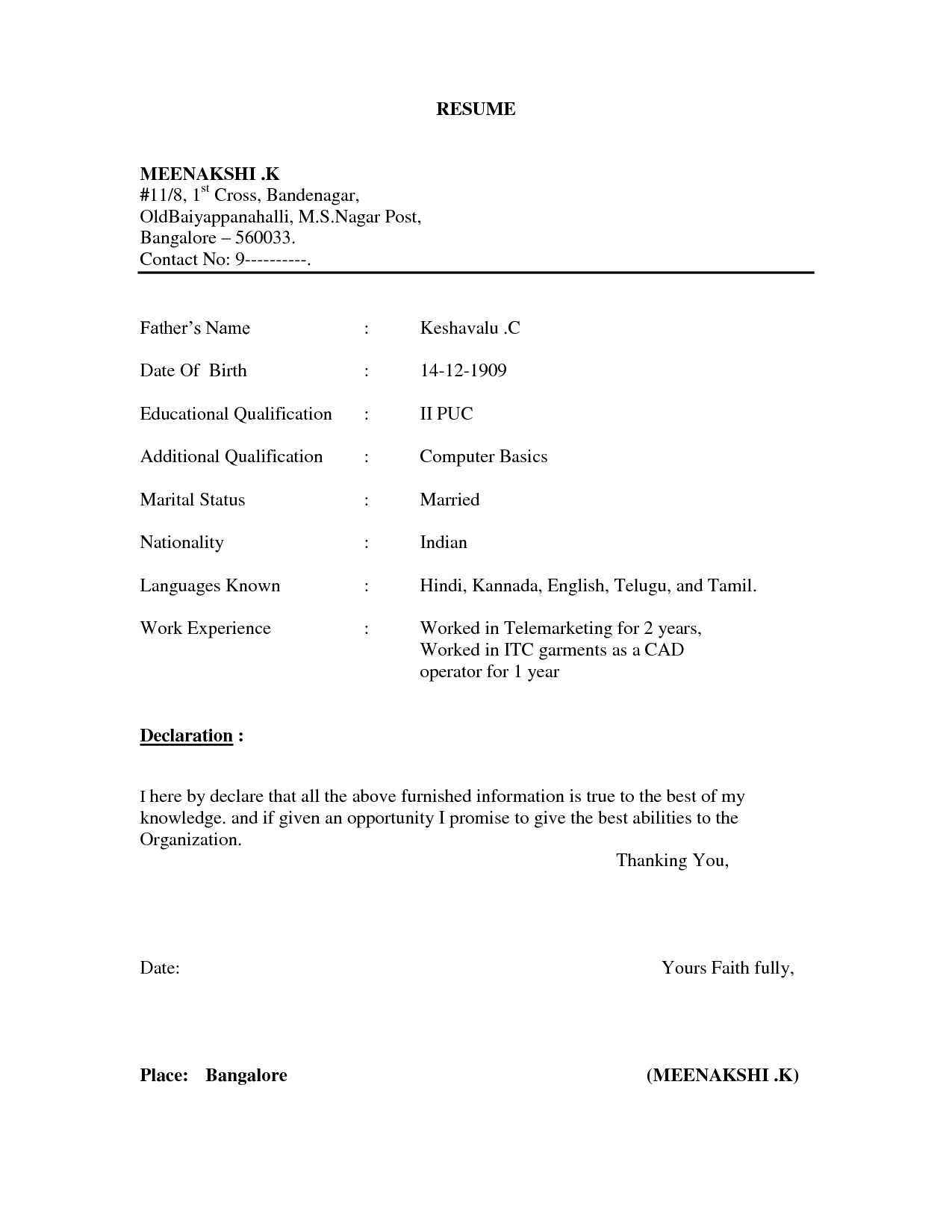 Free Resume Template Download - 40 Unbelievable Free Download Resume Templates