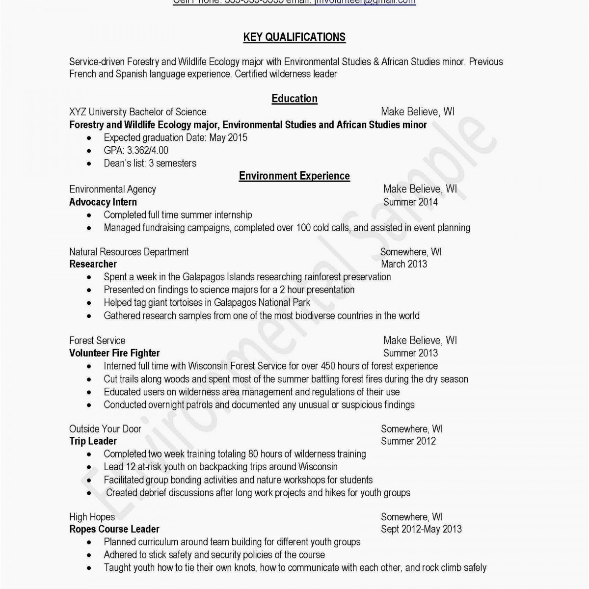 Free Resume Templates - Basic Resume Template Cute Awesome Examples Resumes Ecologist Resume