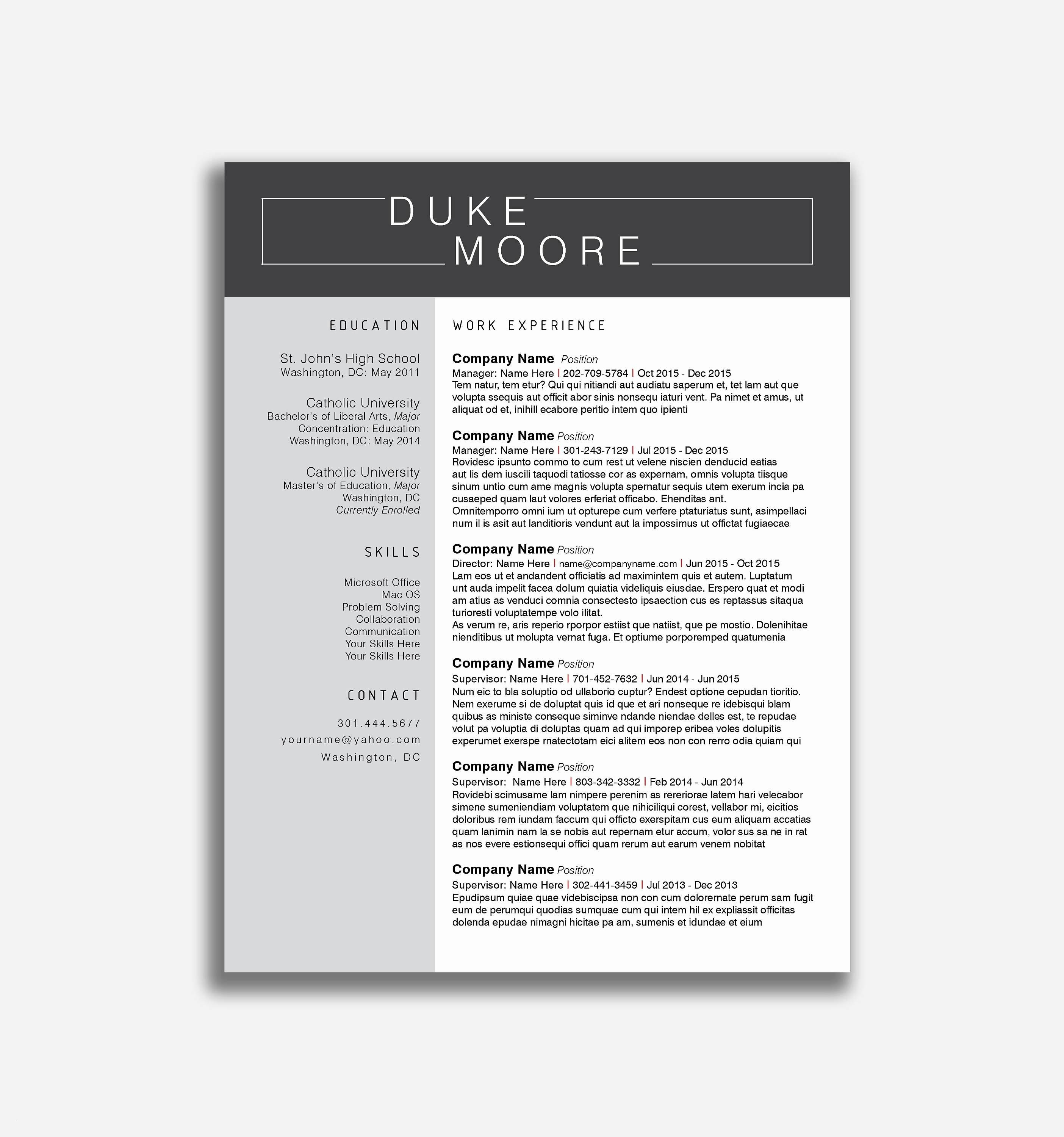 Free Resume Templates for Mac Pages - Free Resume Templates for Mac Pages