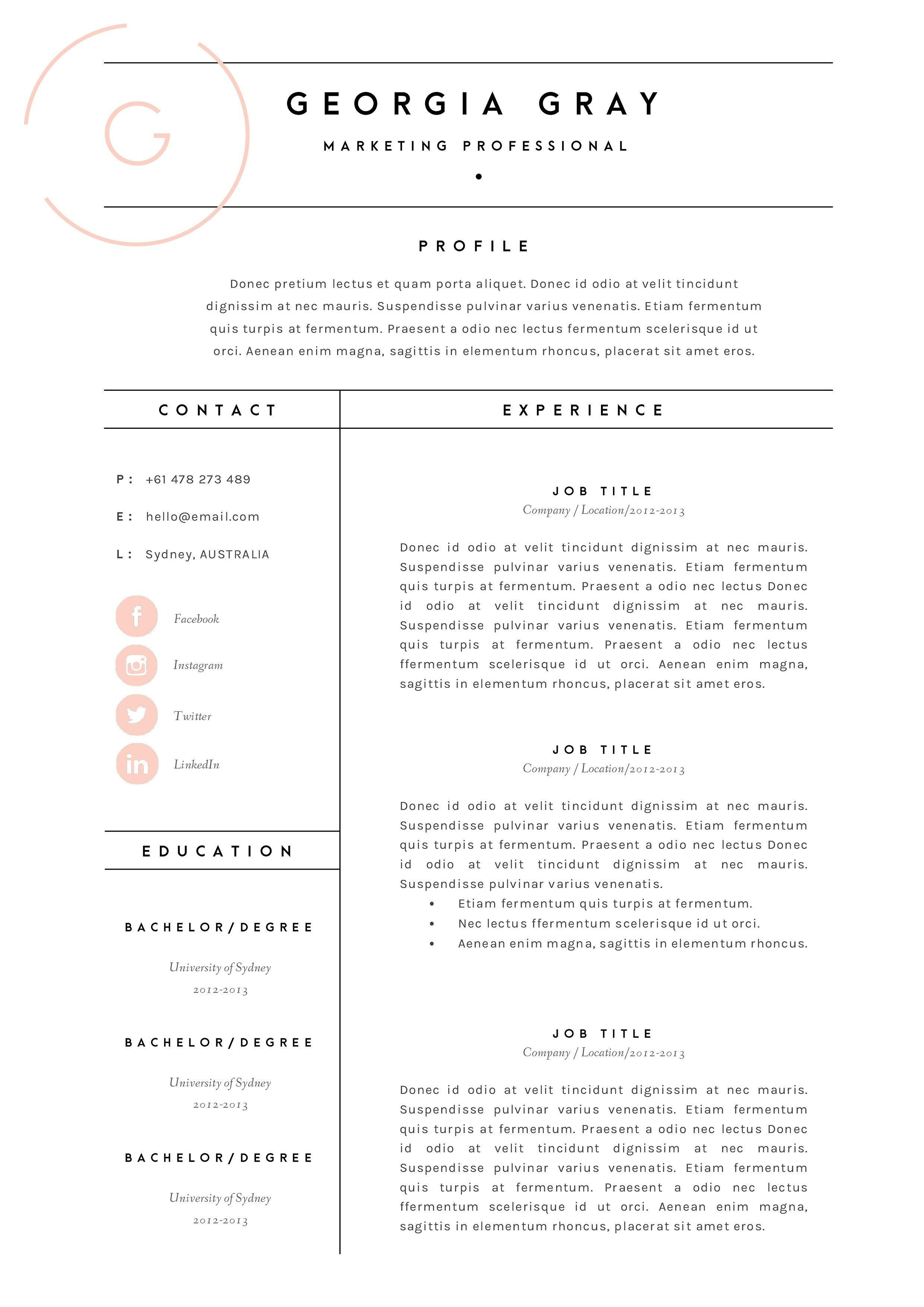 8 github resume template examples