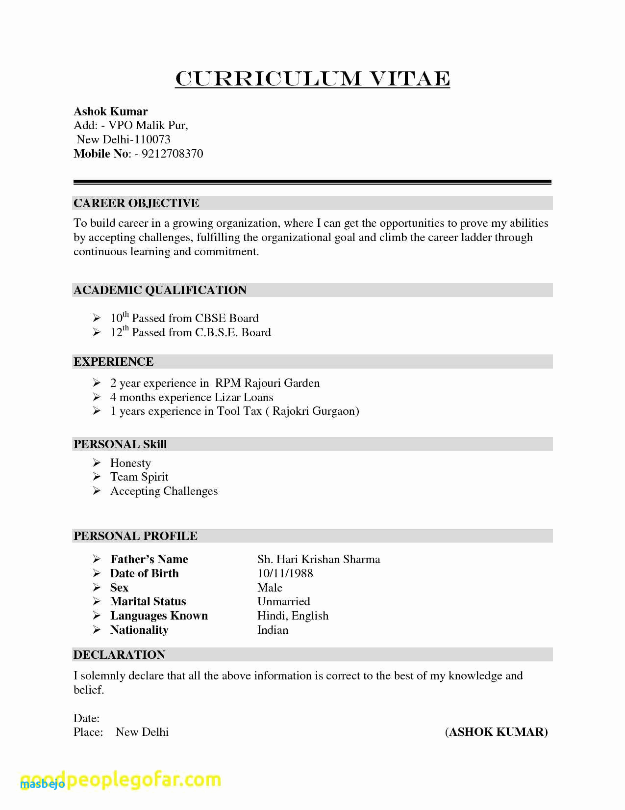 Good Headline for Resume - Good Headline for Resume Inspirational Good Examples Resumes New 38