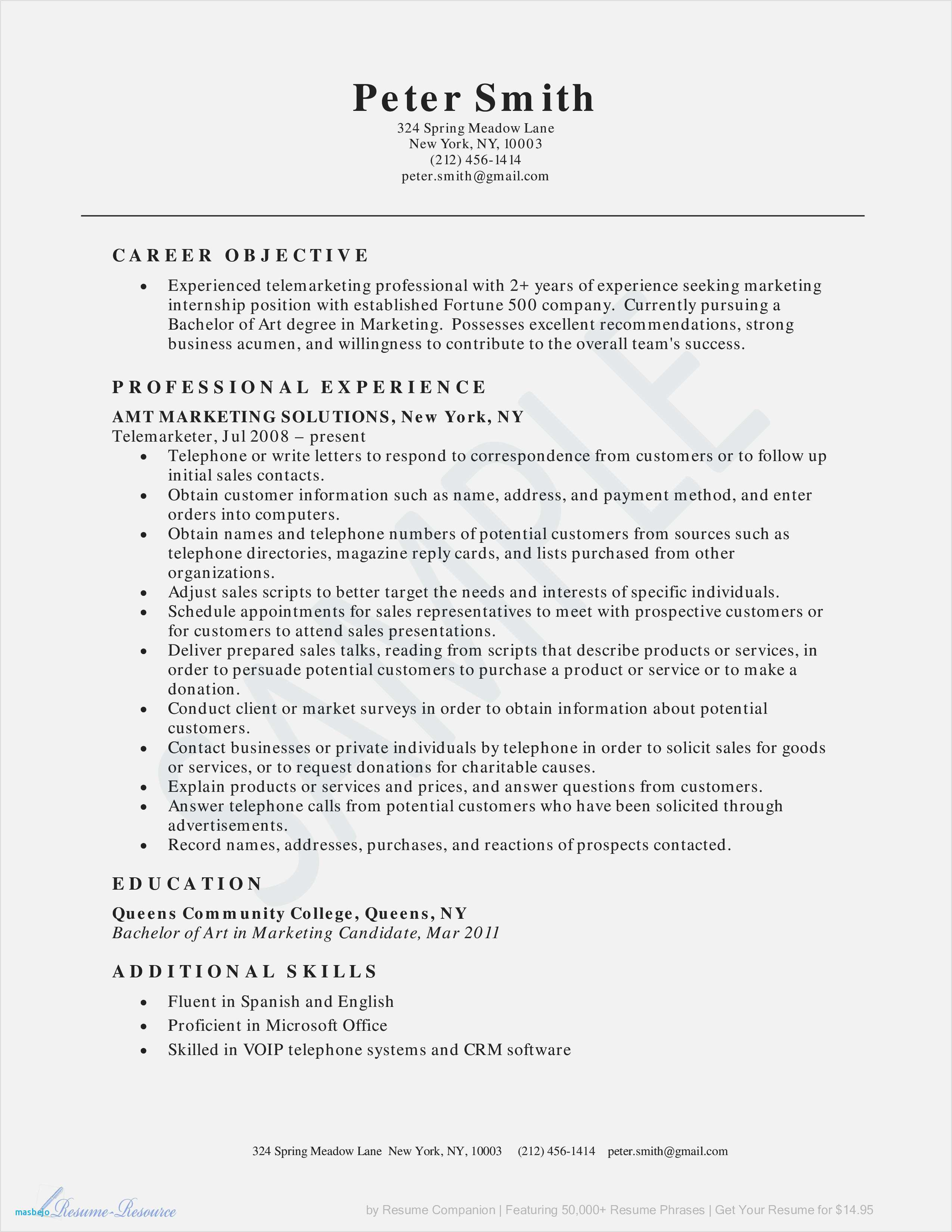 Good Resume Example - 24 Best Resume forms Picture