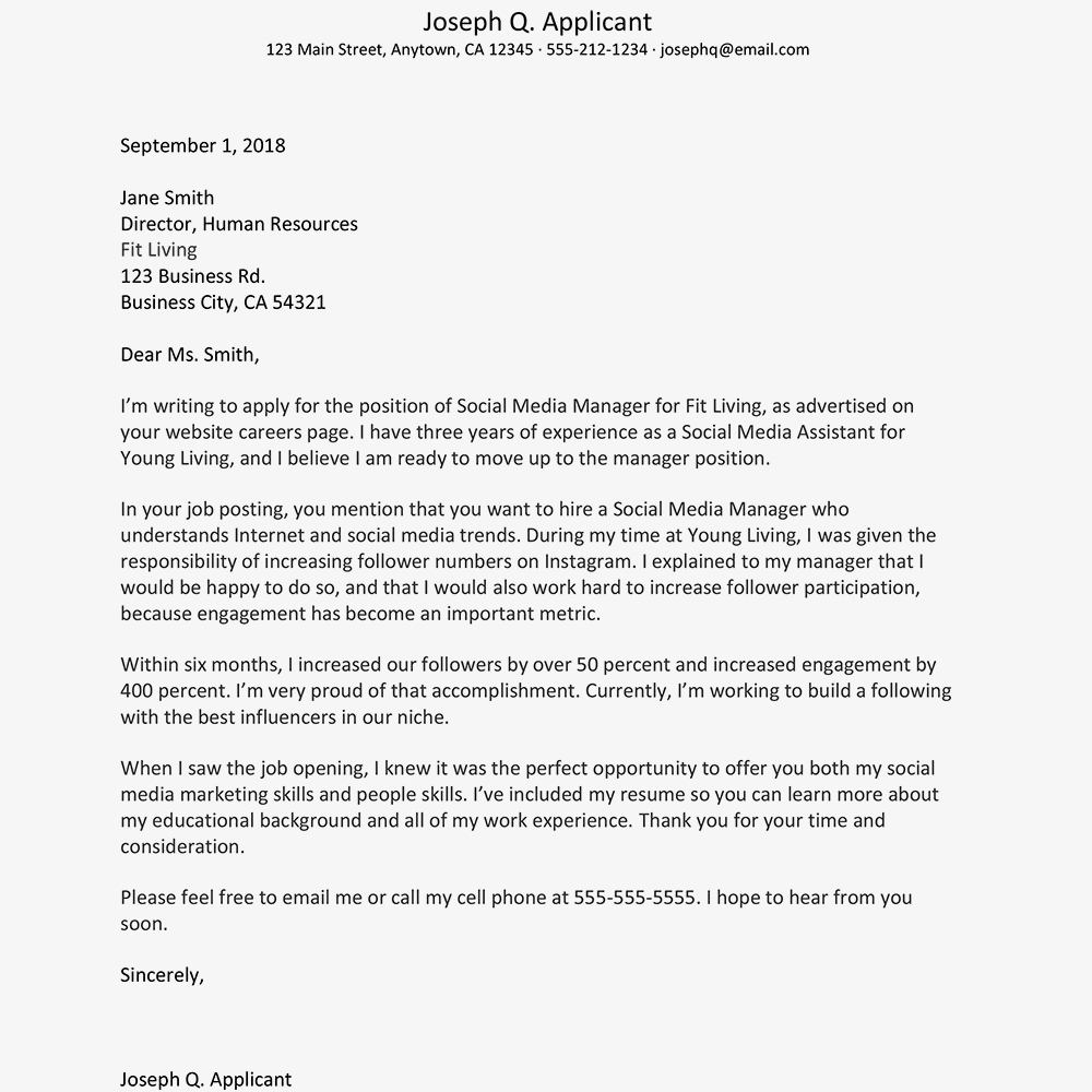 Google Docs Resume Cover Letter Template - Free Cover Letter Examples and Writing Tips